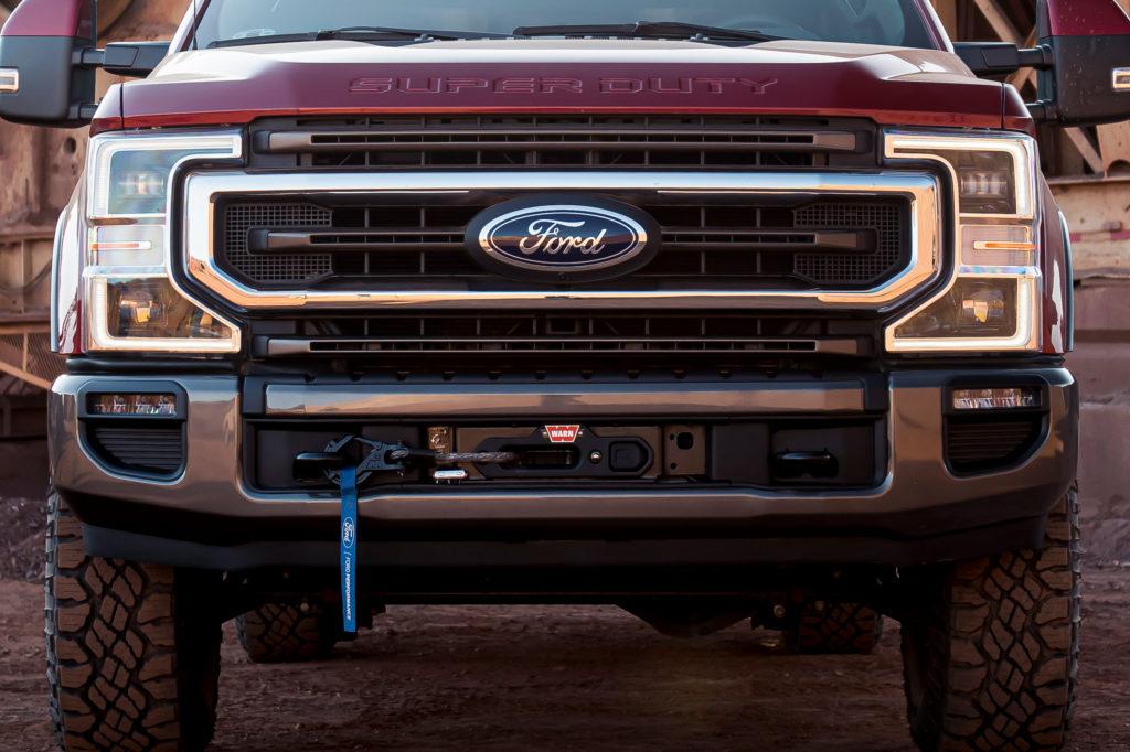Ford Super Duty Warn Winch