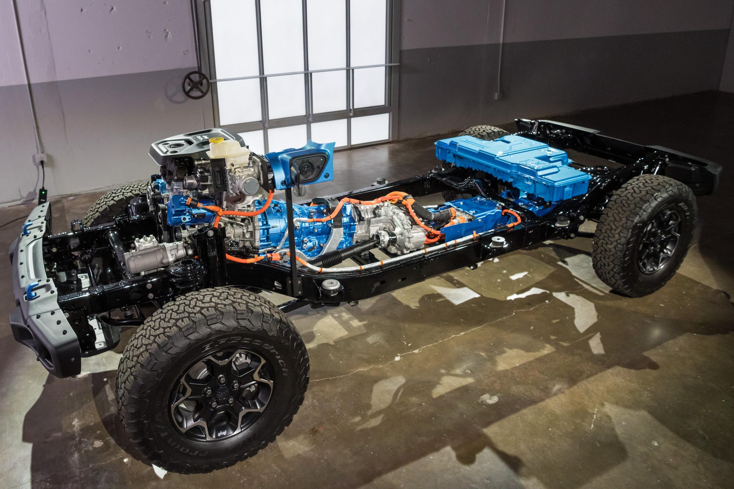 Jeep Wrangler 4xe drivetrain
