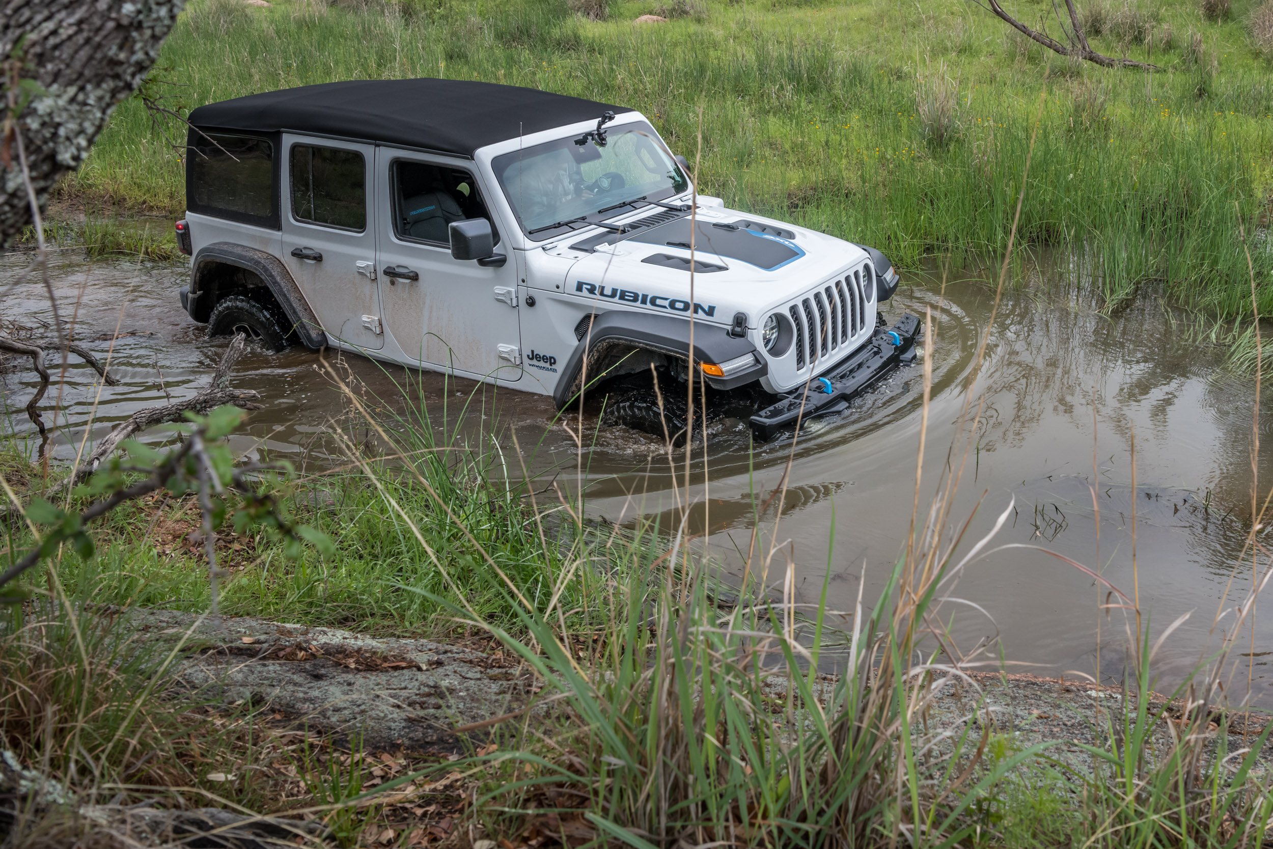 2021 Jeep Wrangler 4Xe Rubicon in water