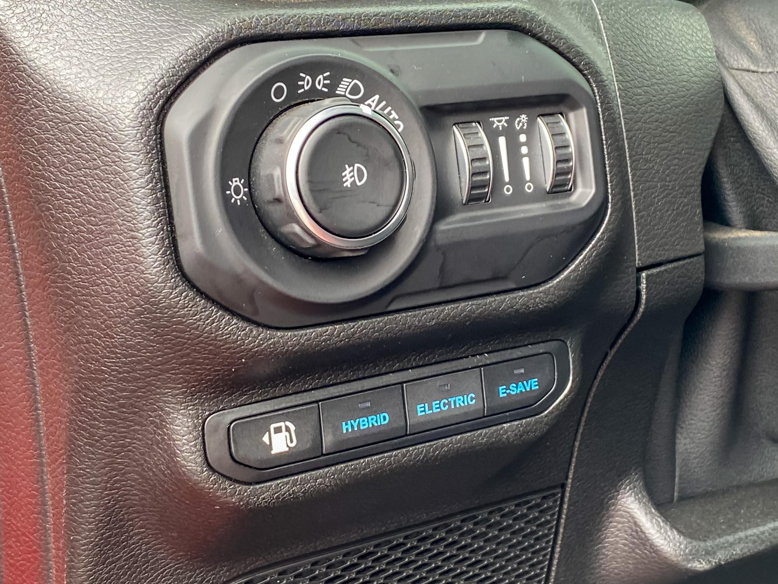 2021 Jeep Wrangler 4Xe Drive modes