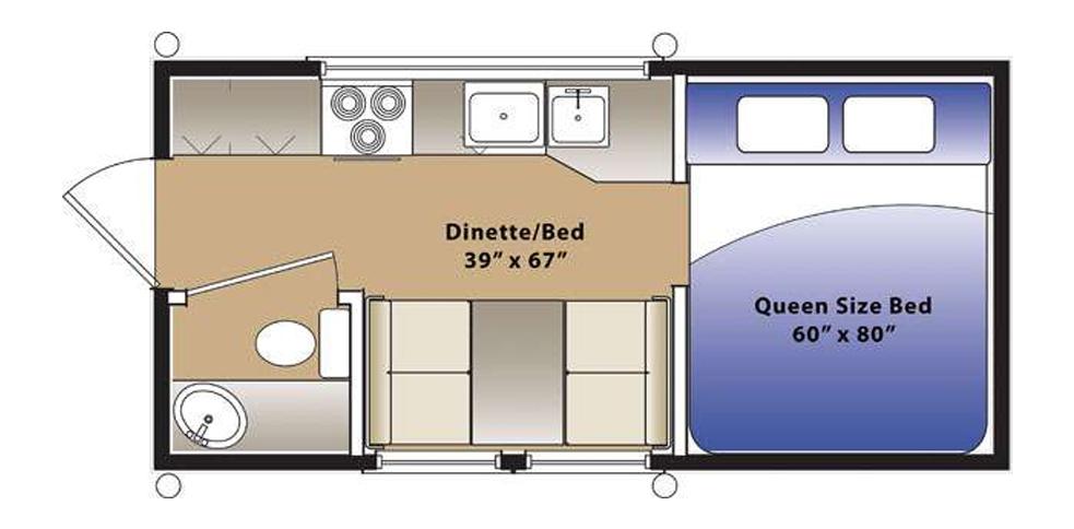 Best Truck Campers: Hallmark Ute Floor Plan