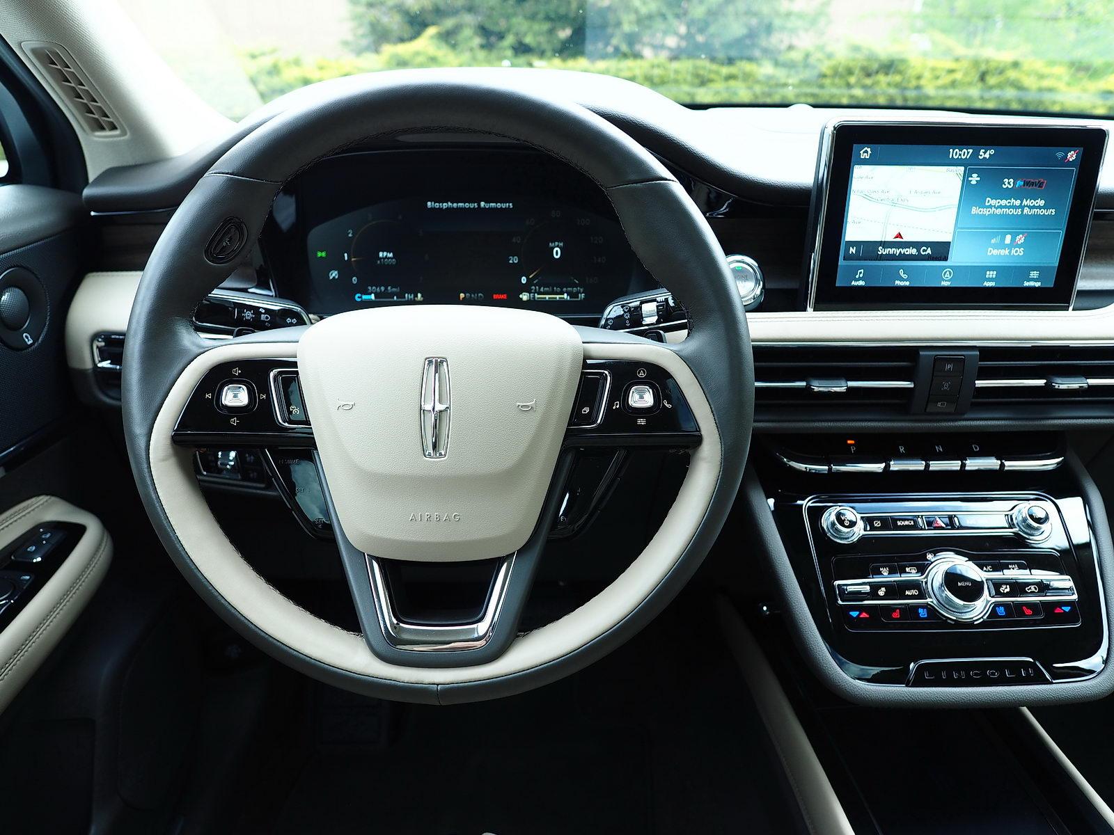 cockpit of 2021 Lincoln Corsair