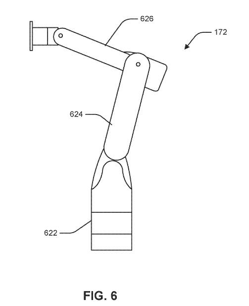 Honda Autonomous Car Ingress/Egress Patent robot arm