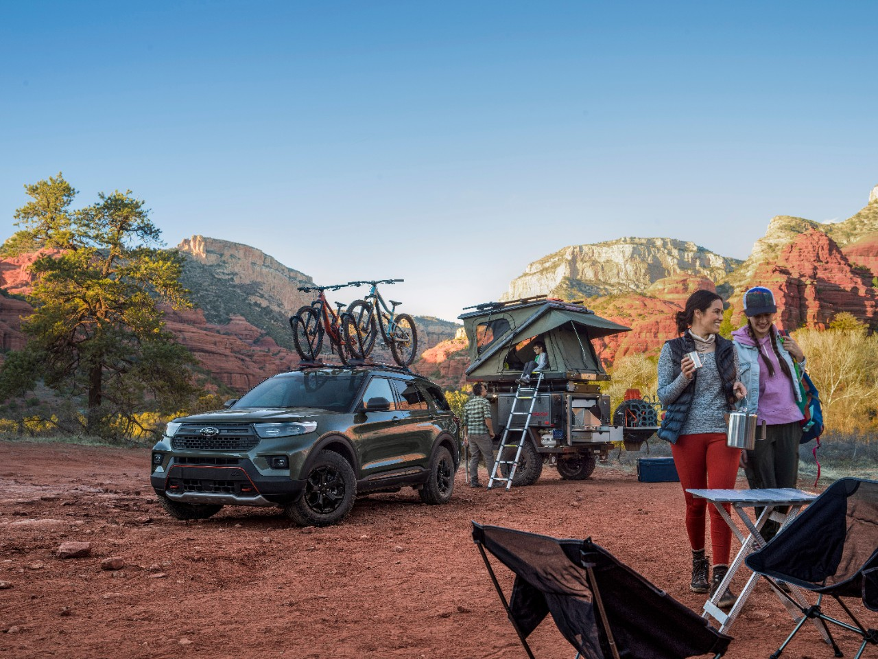 2021 Ford Explorer Timberline camping