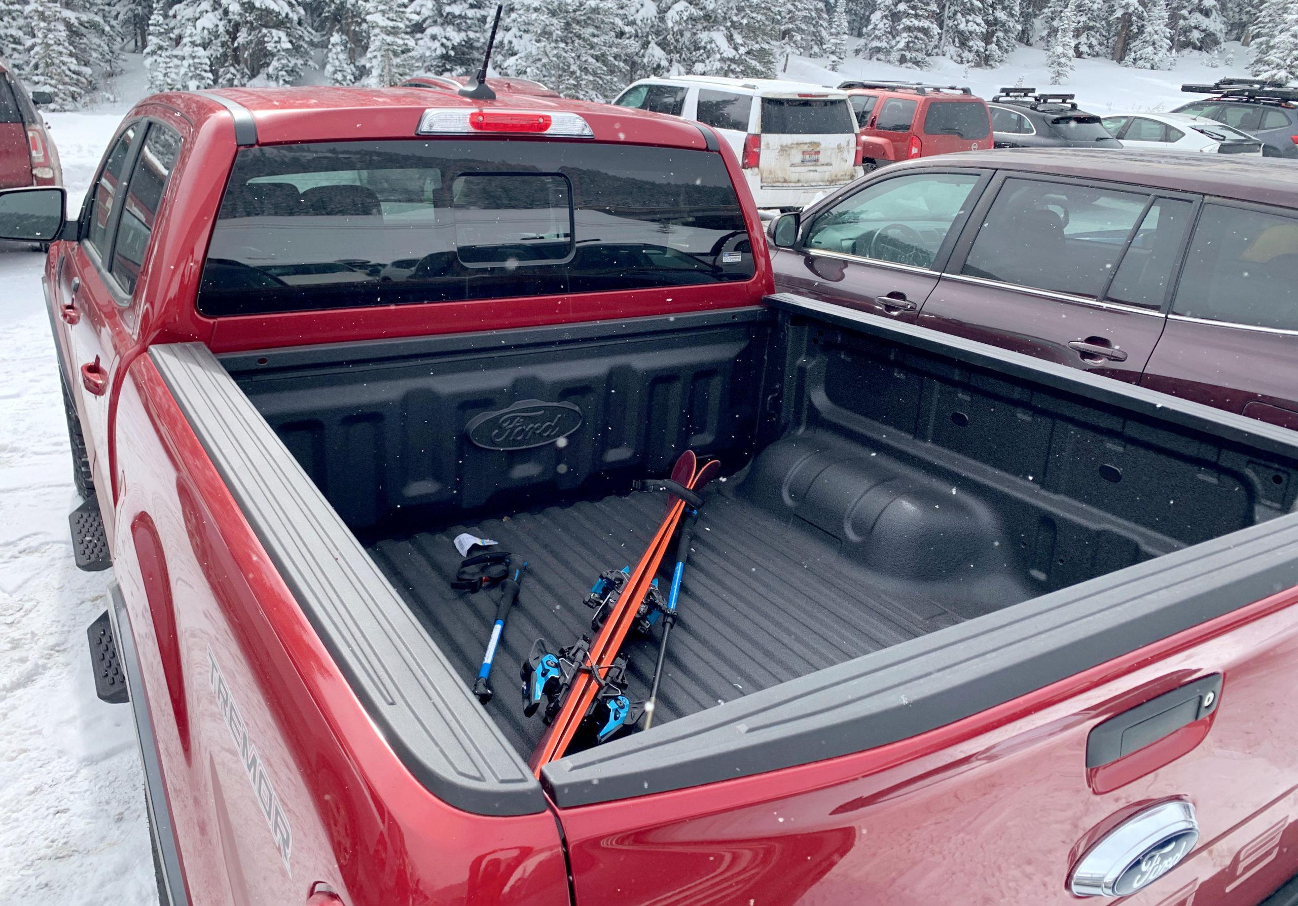 2021 Ford Ranger Tremor truck bed