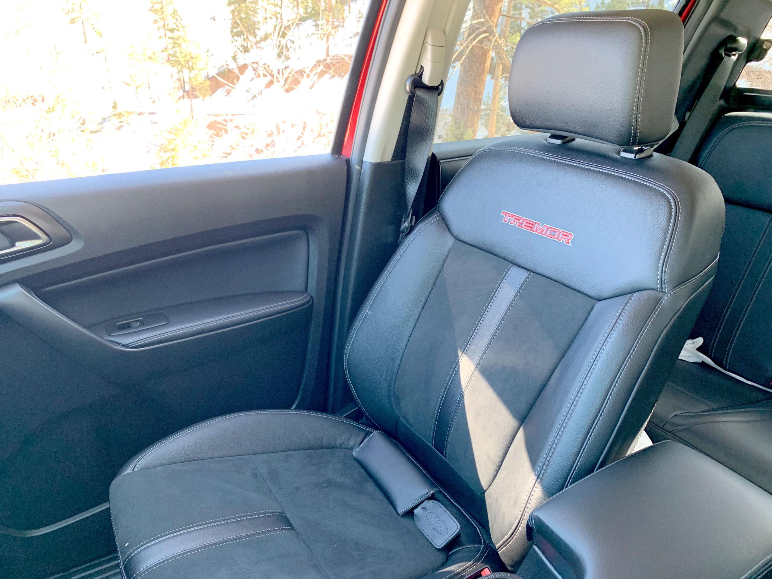 2021 Ford Ranger Tremor seat
