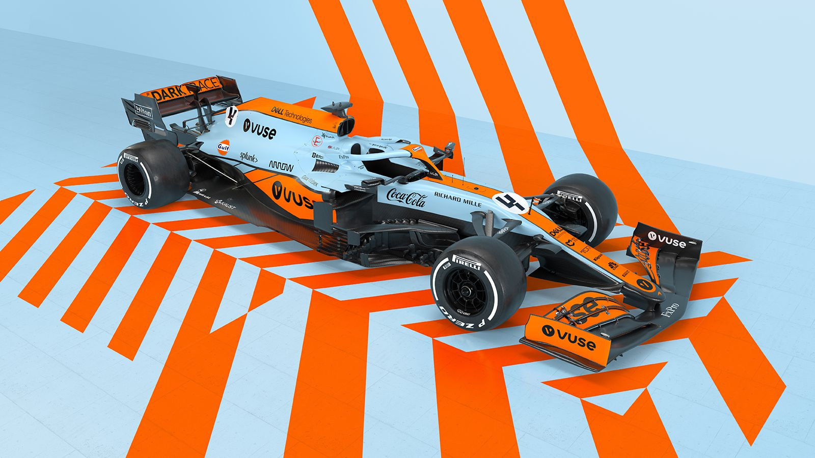 2021 McLaren F1 Car Gulf Livery