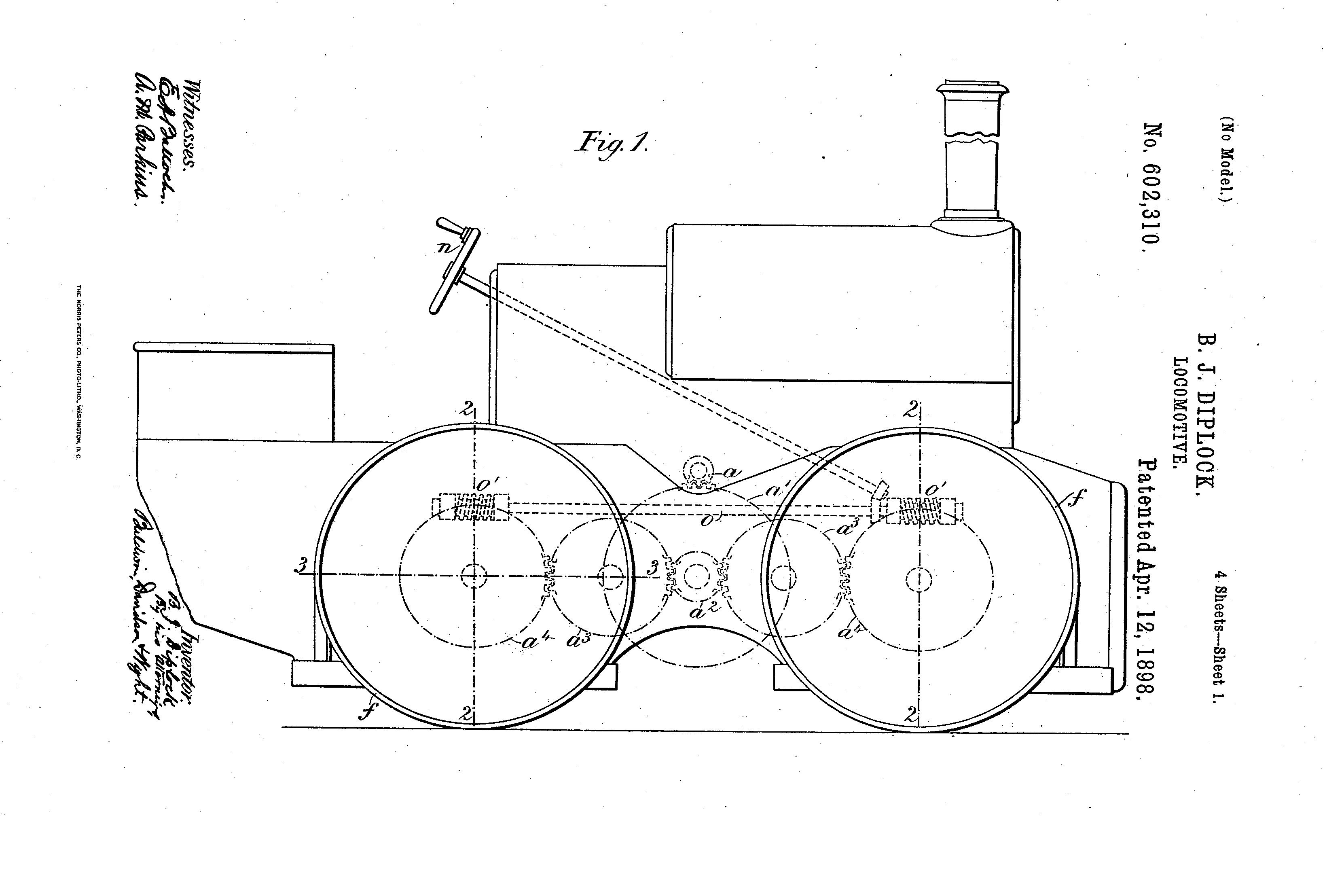 first four-wheel-drive Diploch four-wheel-drive locomotive