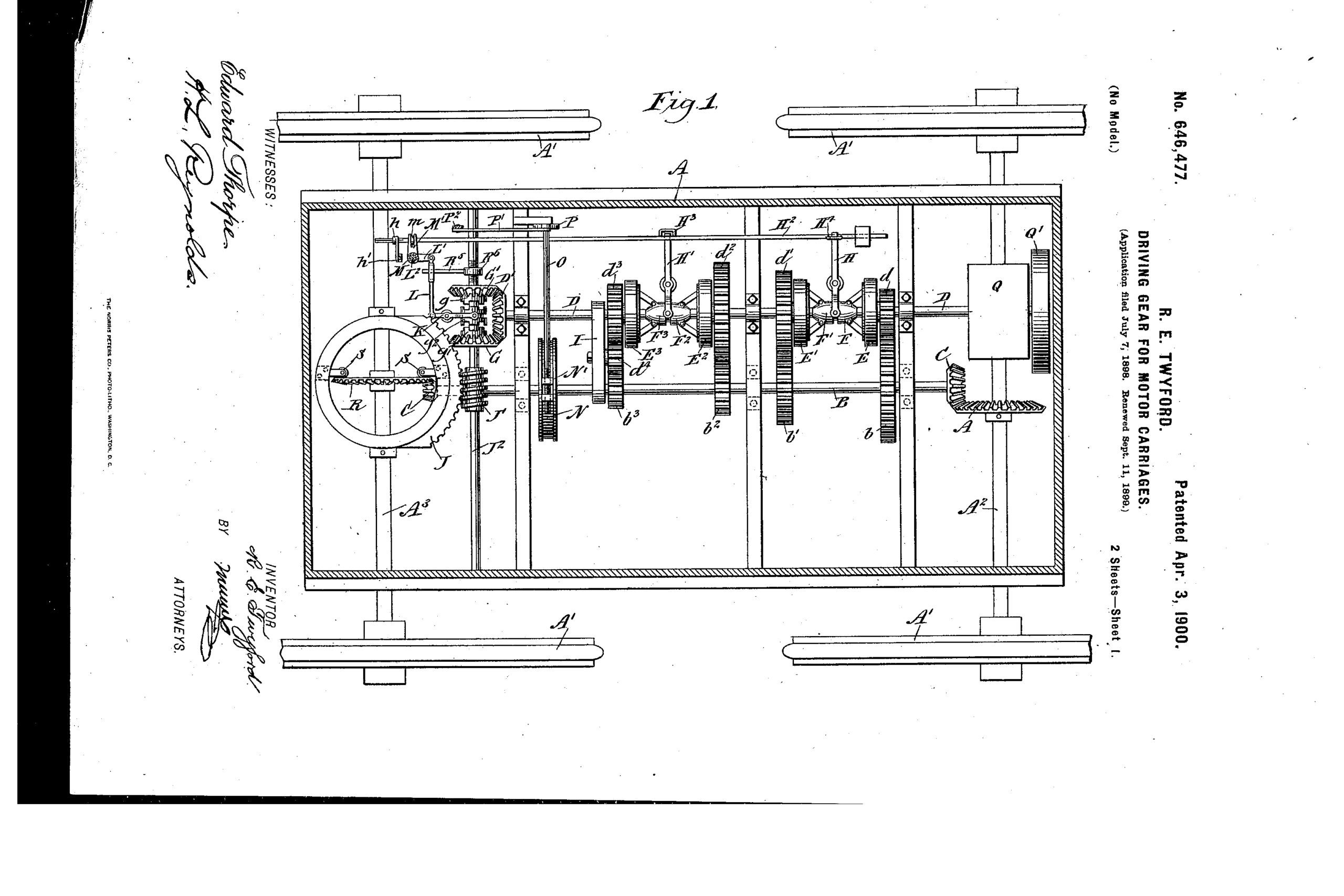 first four-wheel-drive Twyford patent