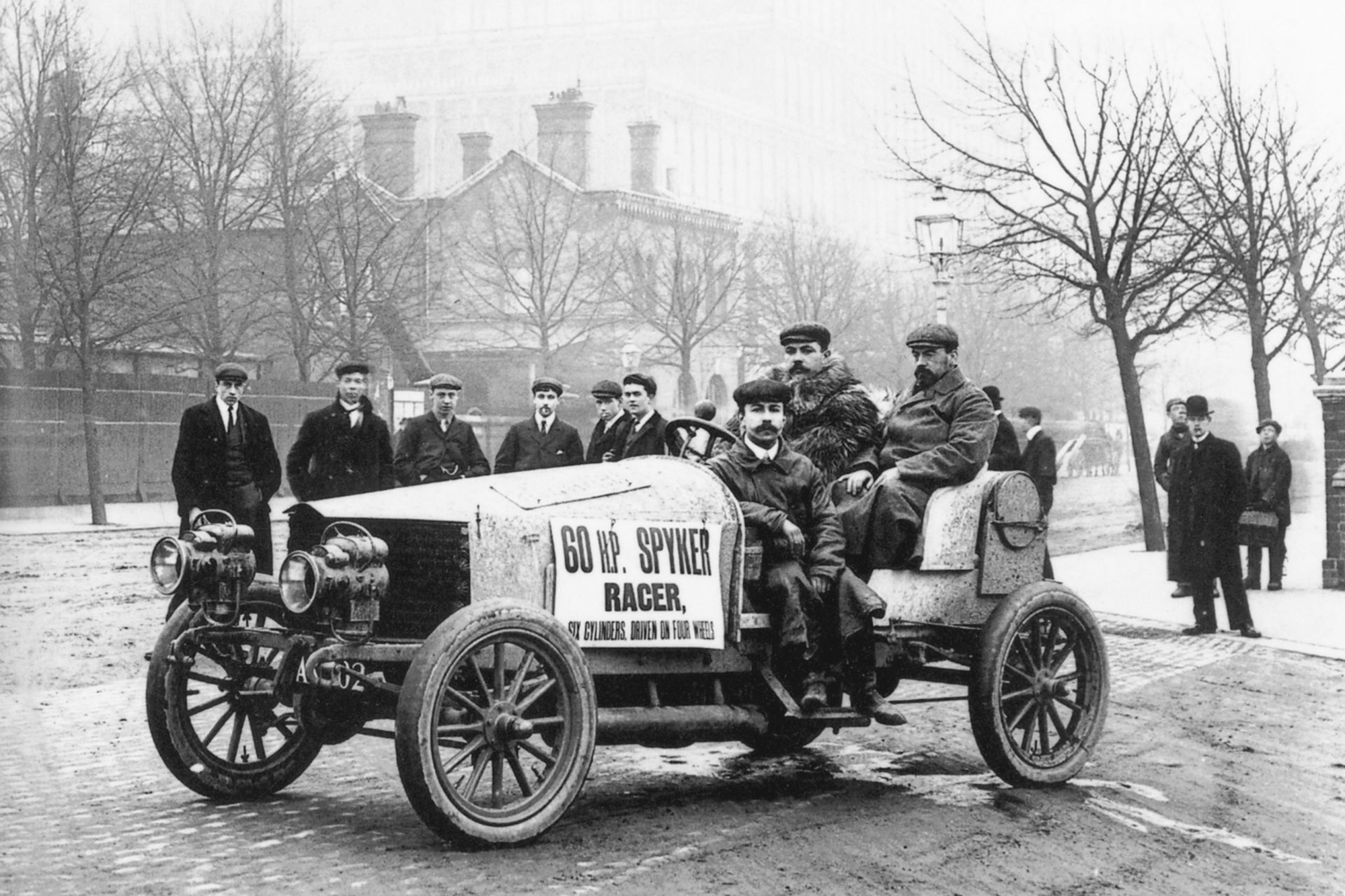 first four-wheel-drive Spiker 60-HP race car