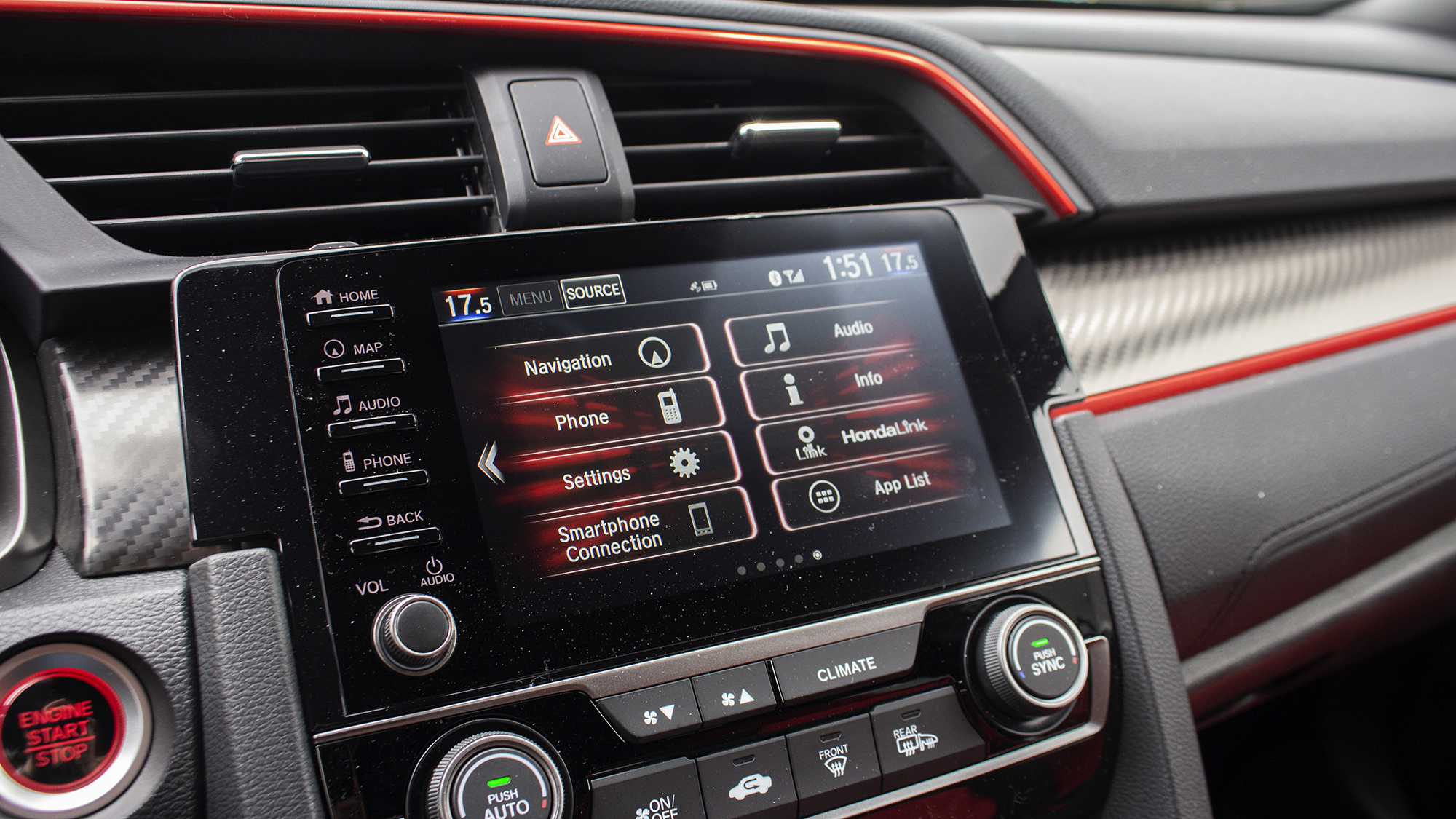 2021 Honda Civic Type R infotainment