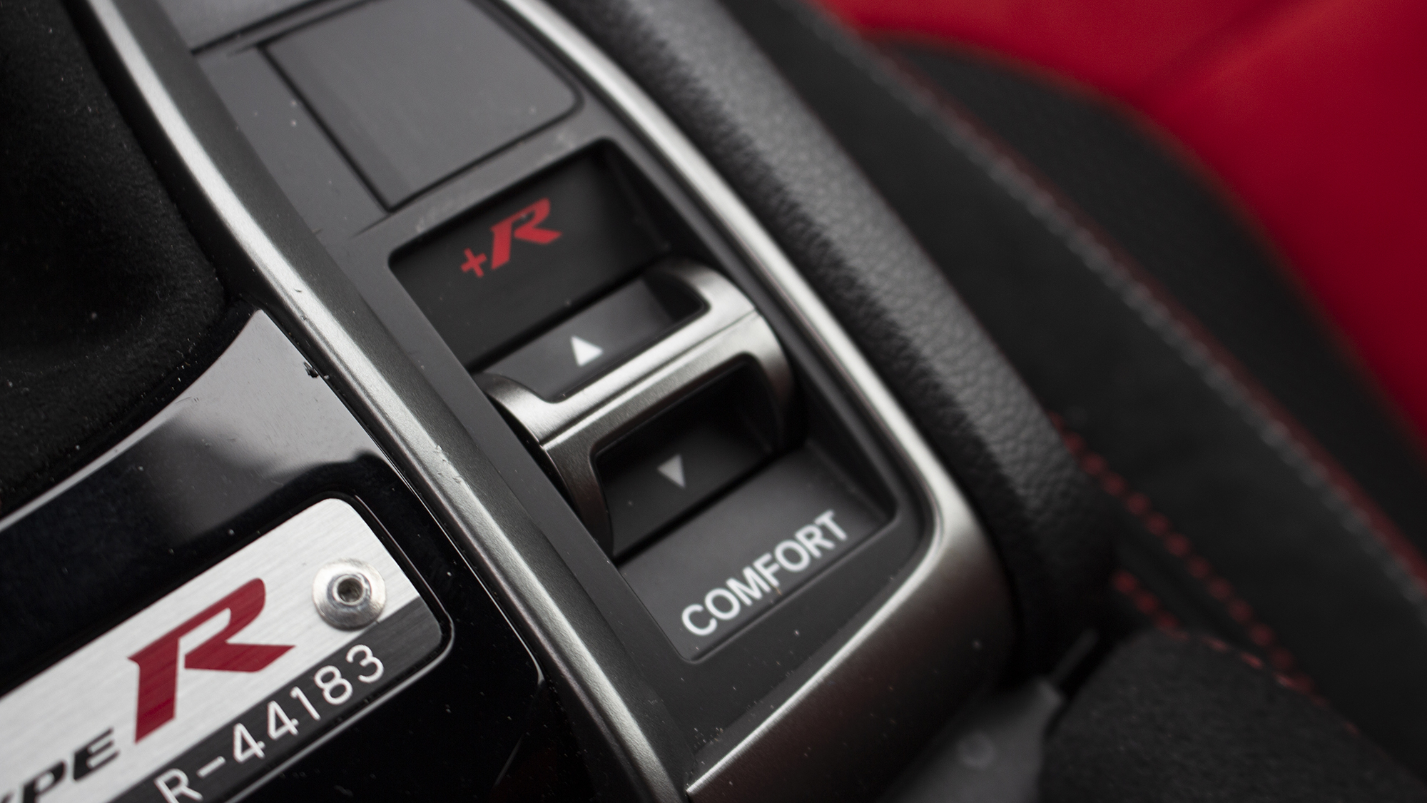 2021 Honda Civic Type R drive mode button