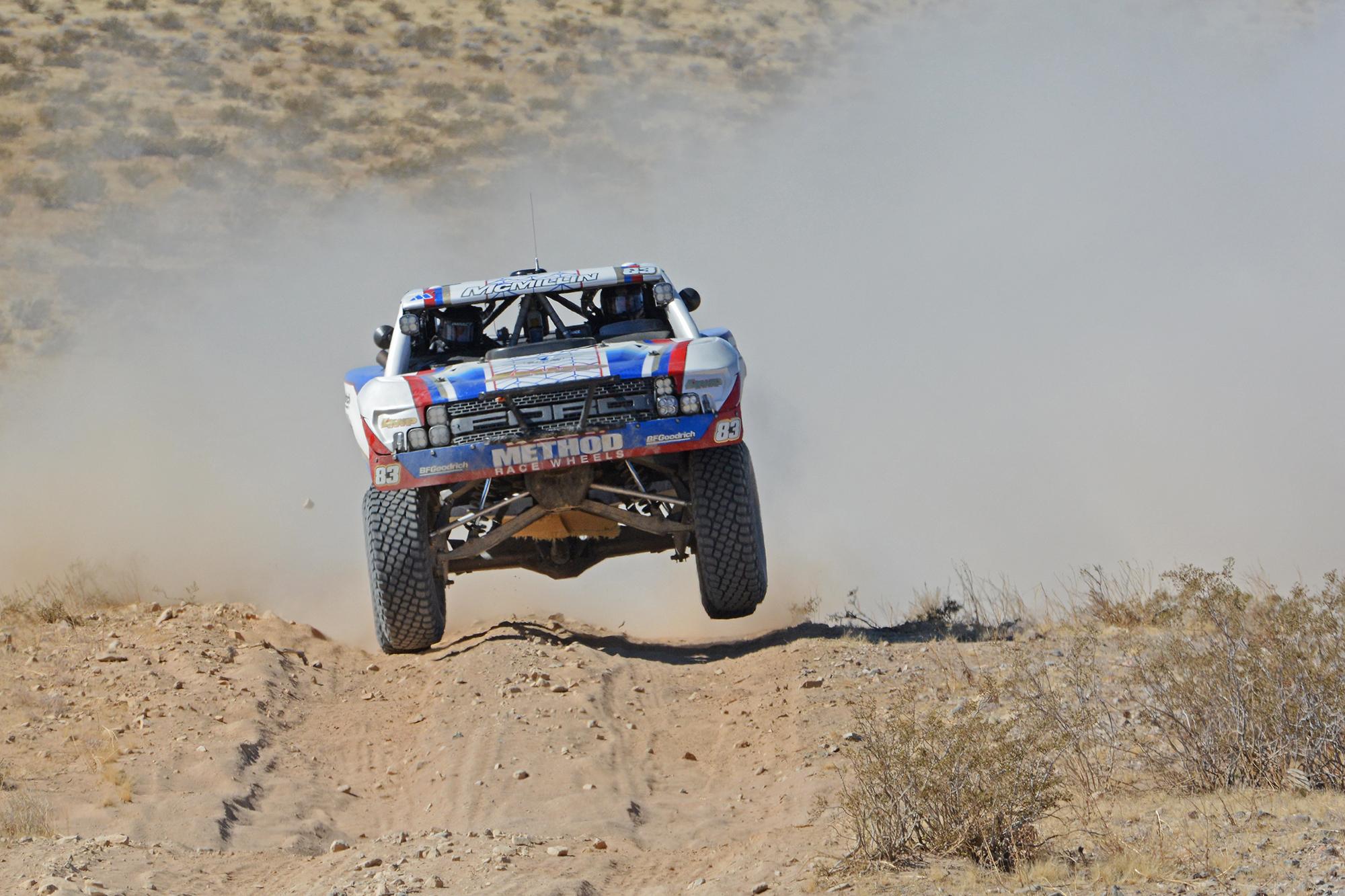Trophy Truck in Baja at speed