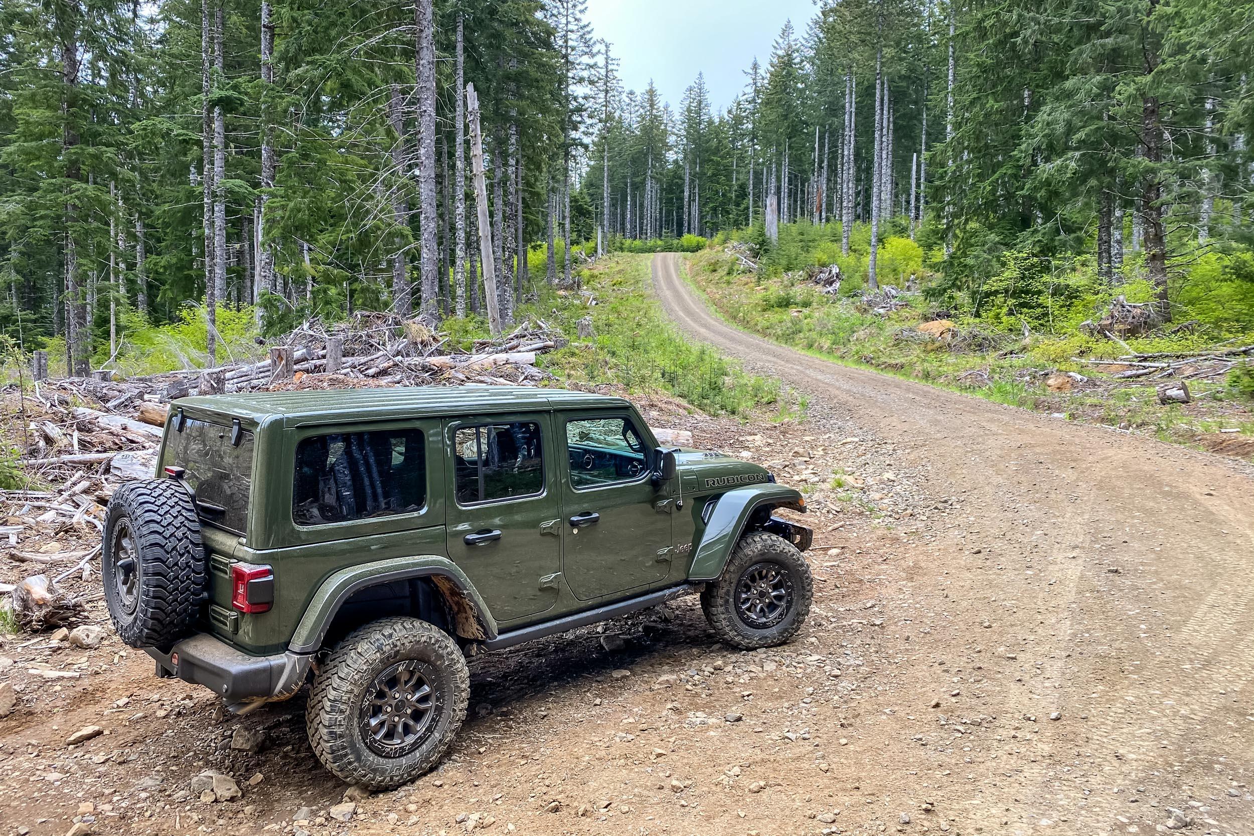 2021 Jeep Wrangler Rubicon 392 gravel road