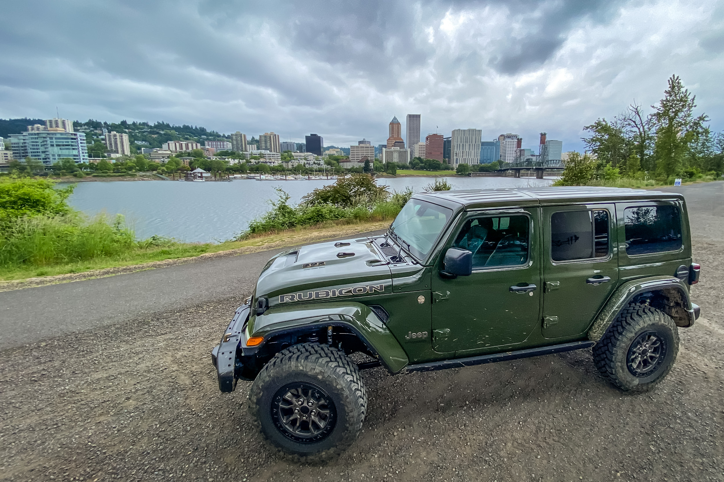 2021 Jeep Wrangler Rubicon 392 Portland city skyline