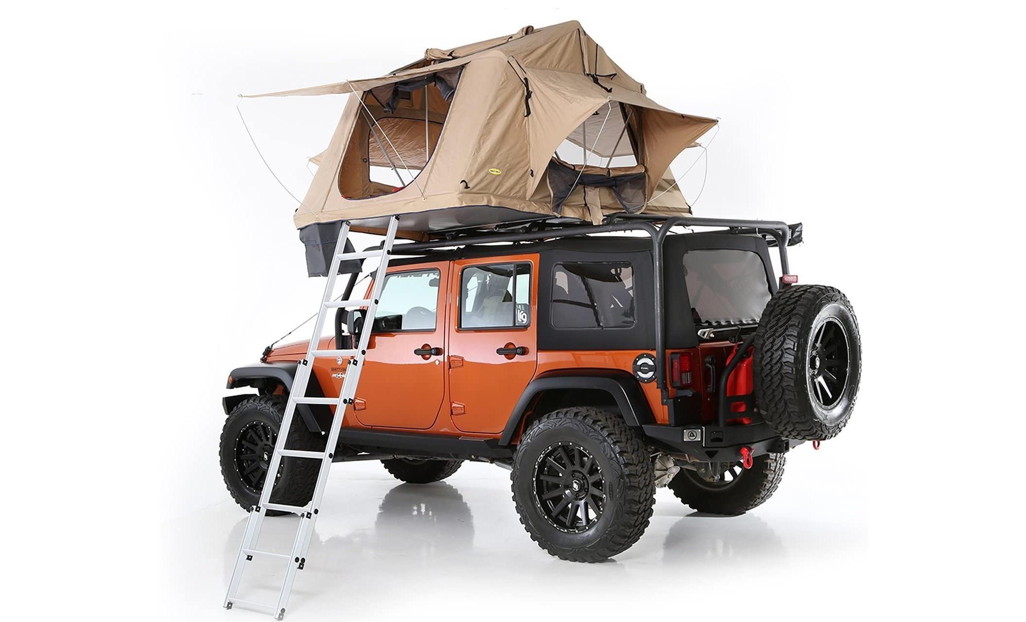 best rooftop tent: Smittybuilt Overlander