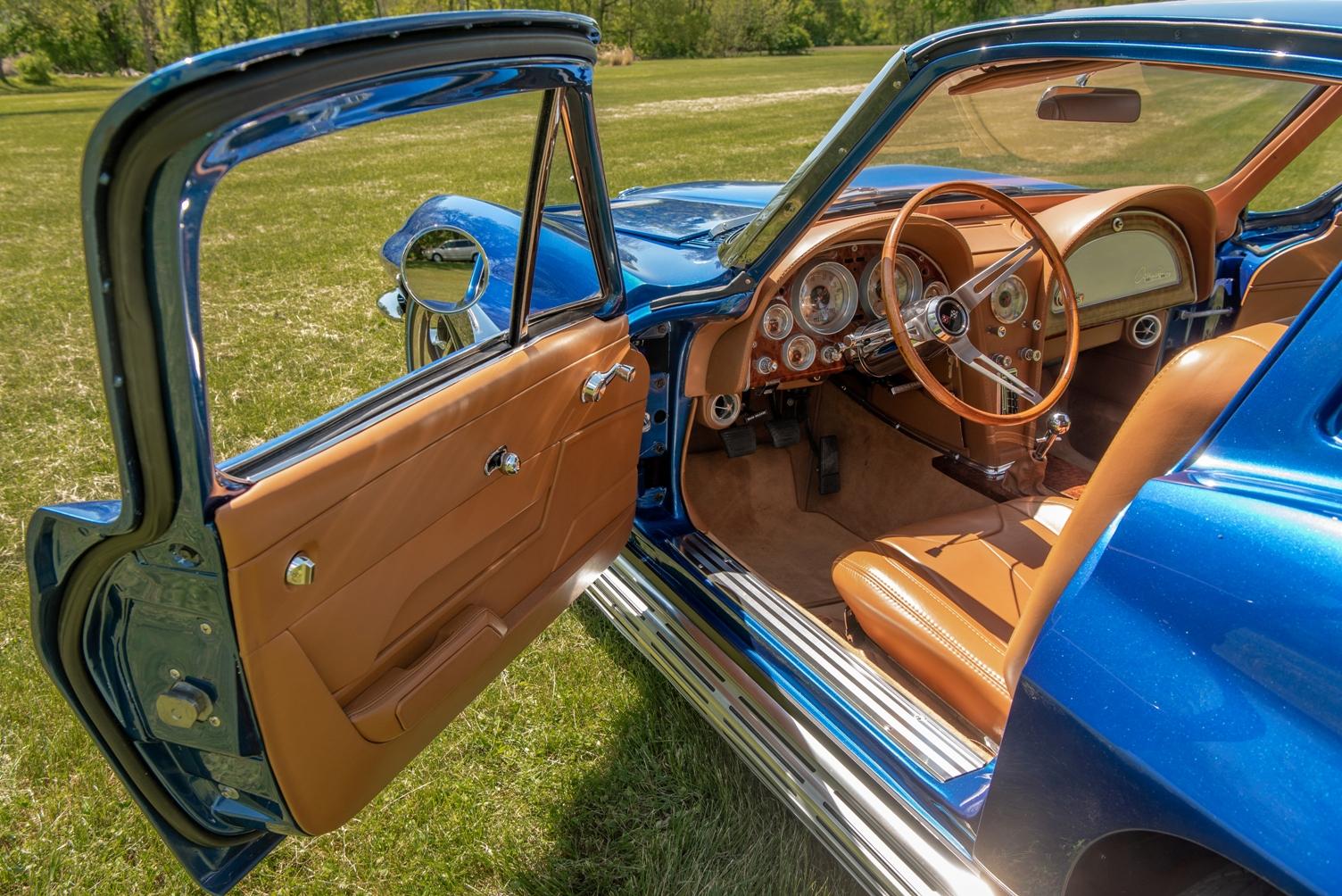 Interior of 1963 Split Window Corvette