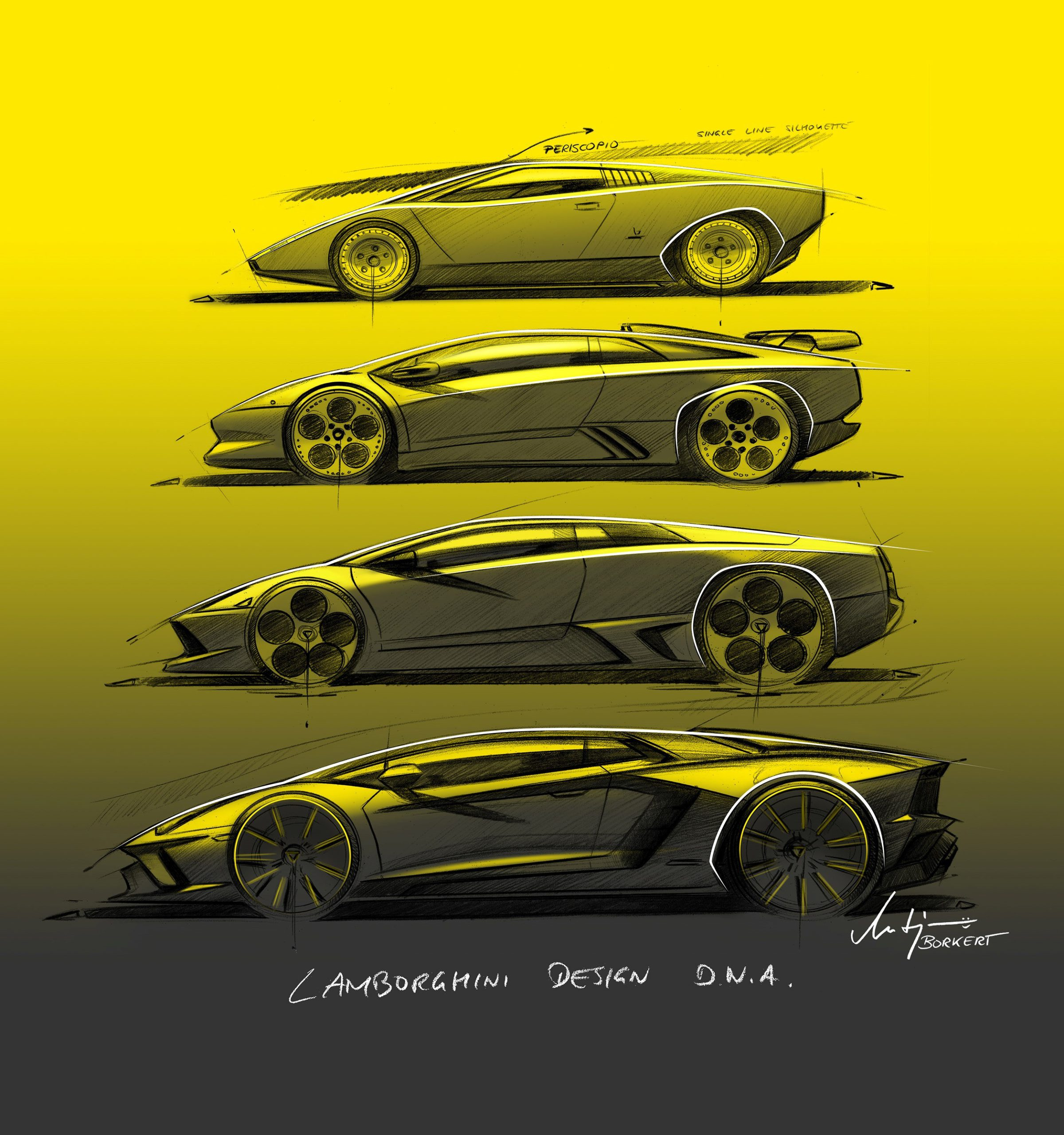 Lamborghini Design evolution