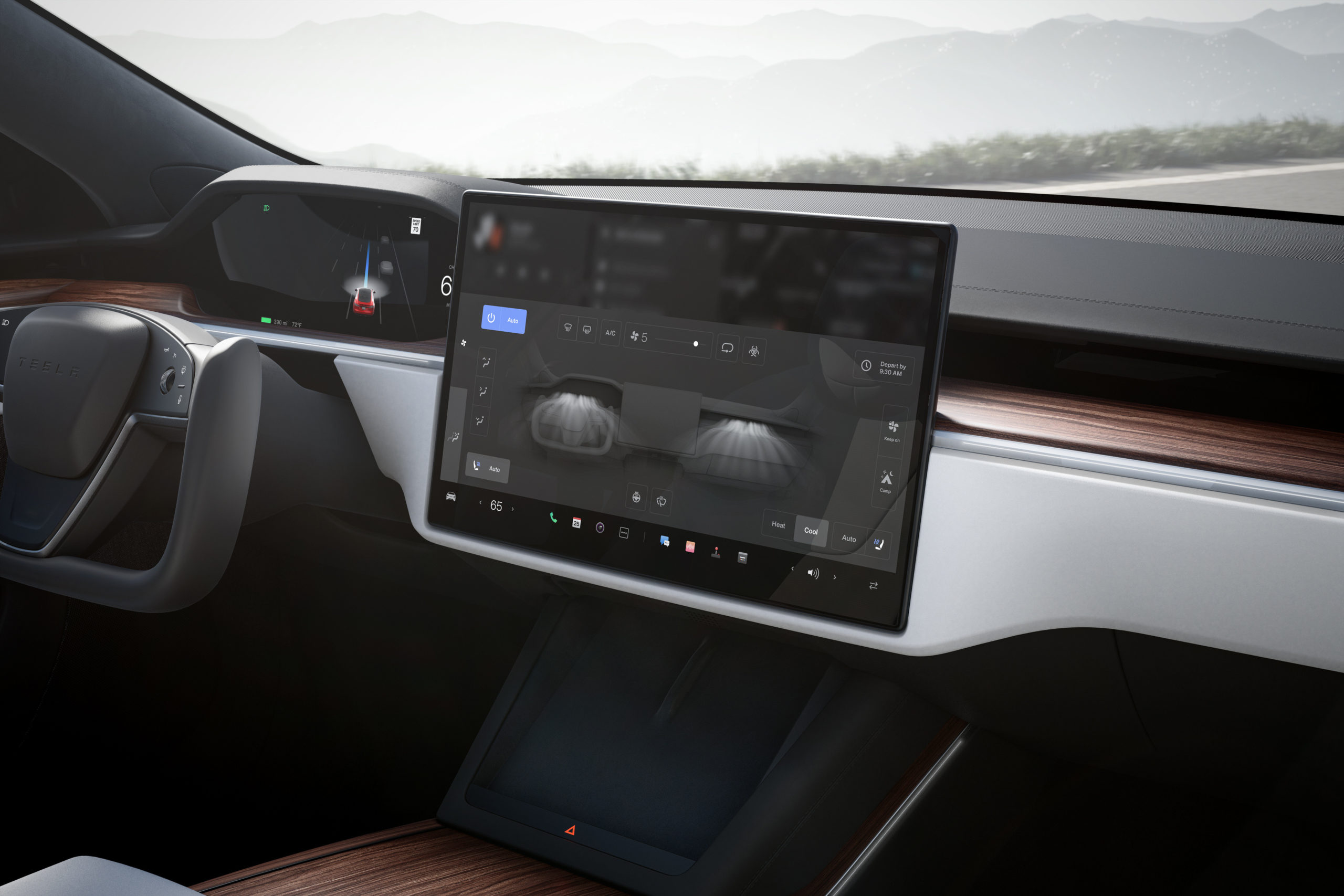 Over the air updates: Tesla Model S plaid dashboard & tech