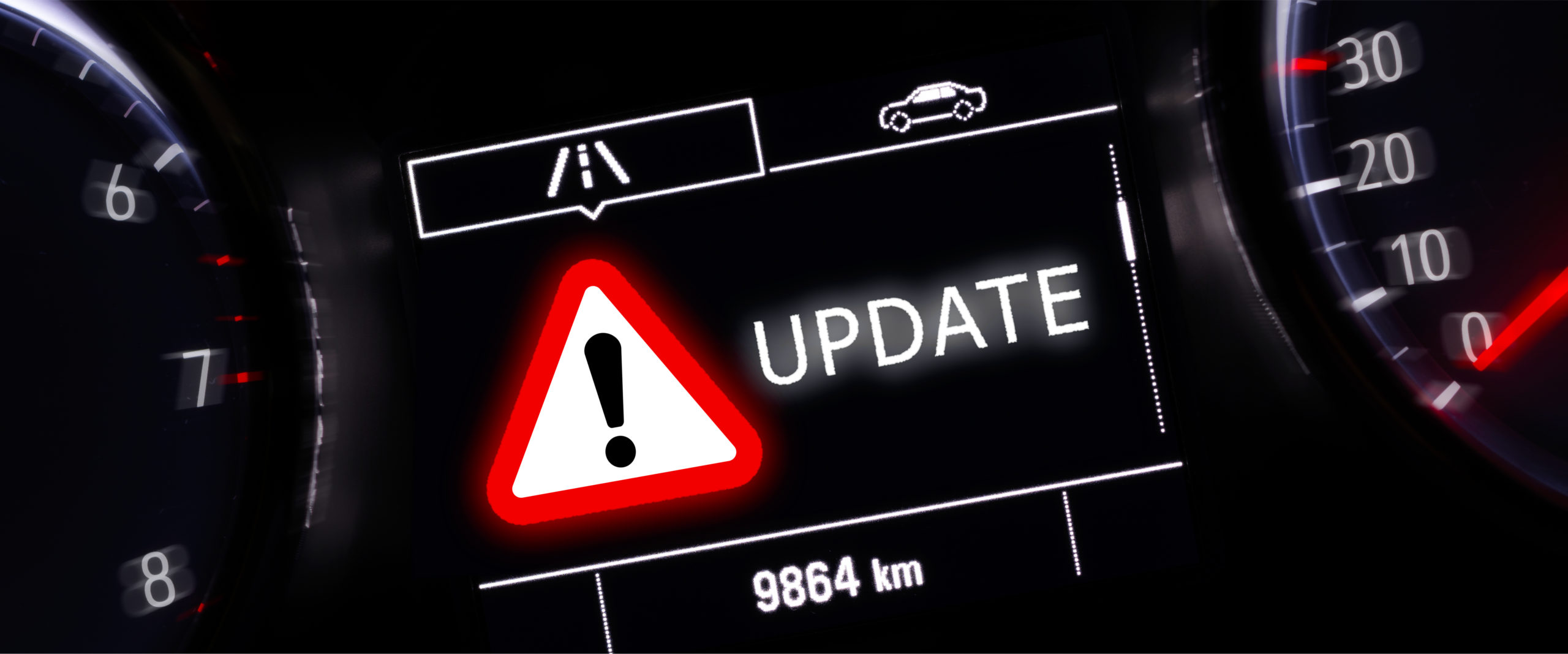 Over the air updates: update warning light on dashboard