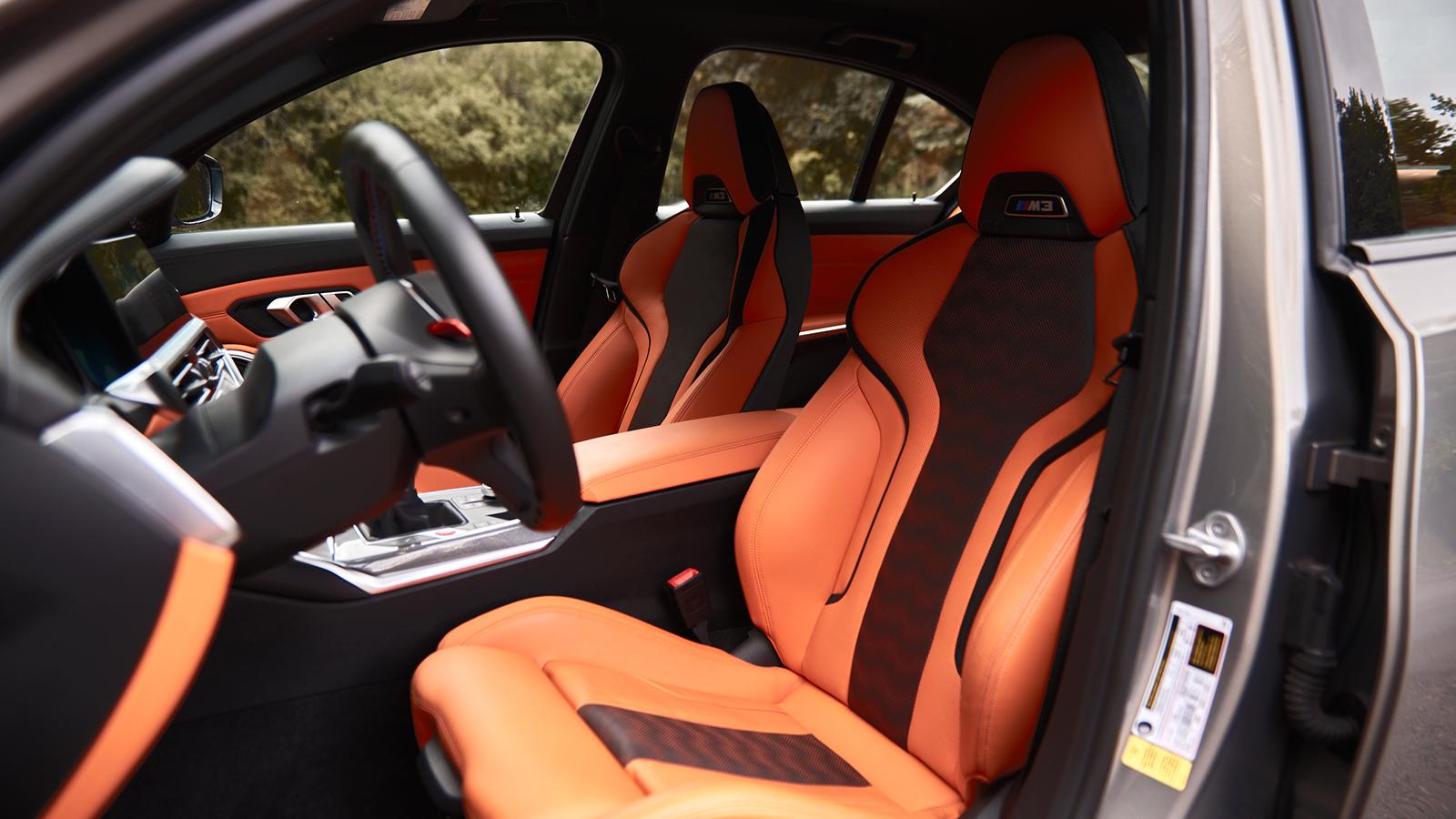 2021 BMW M3 Front Seats