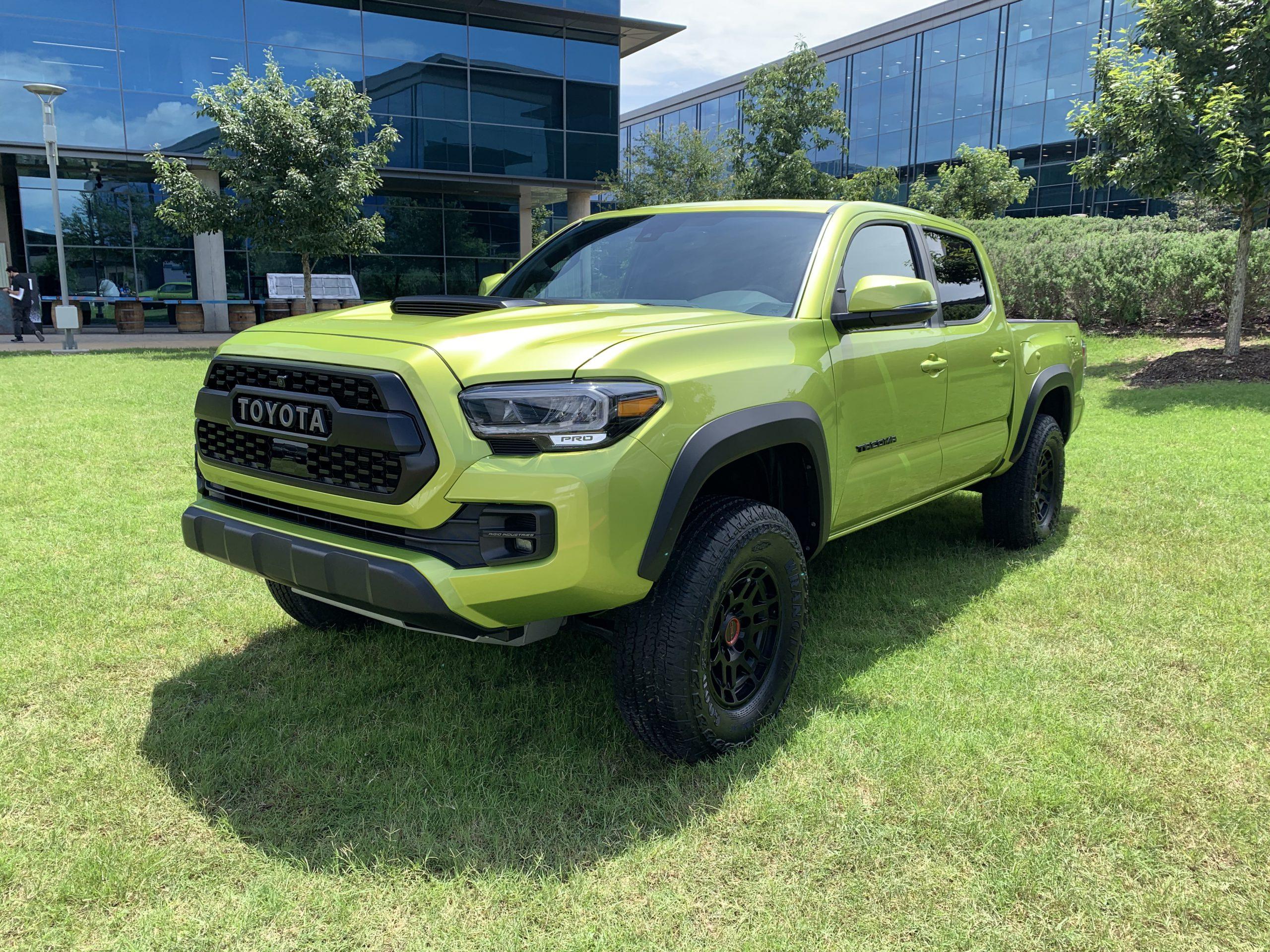 2022 Toyota Tacoma TRD Pro Electric Lime Metallic
