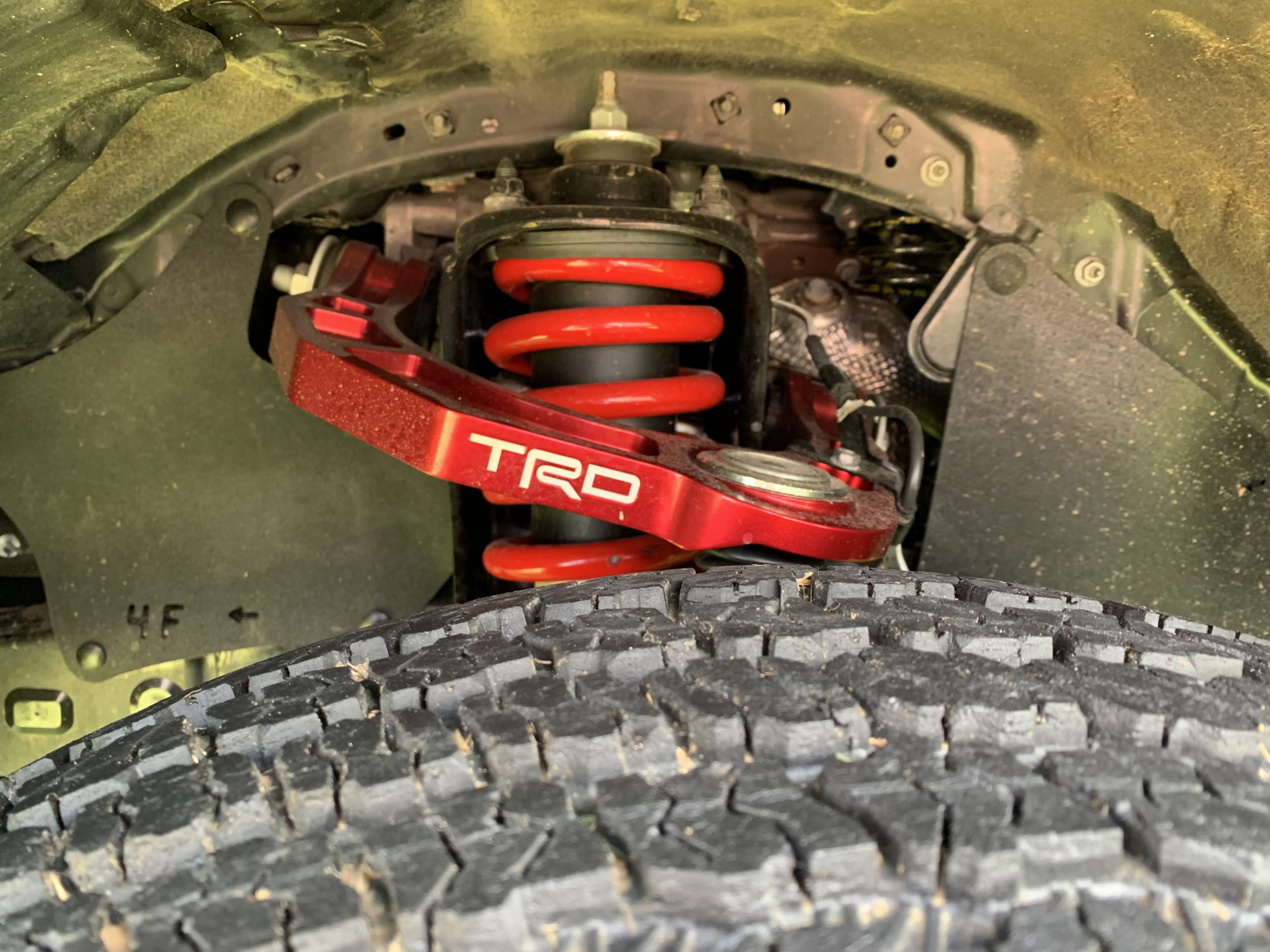 2022 Toyota Tacoma TRD Pro upper control arms