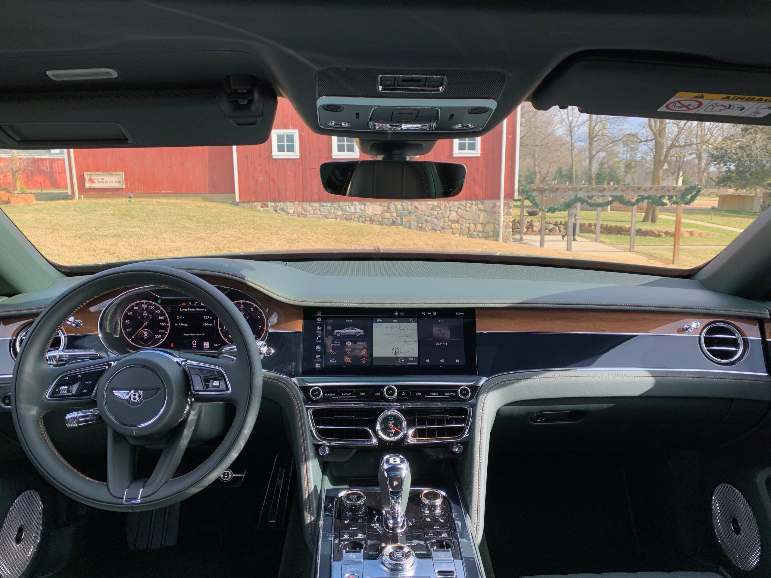 Inside of the 2021 Bentley Flying Spur V8