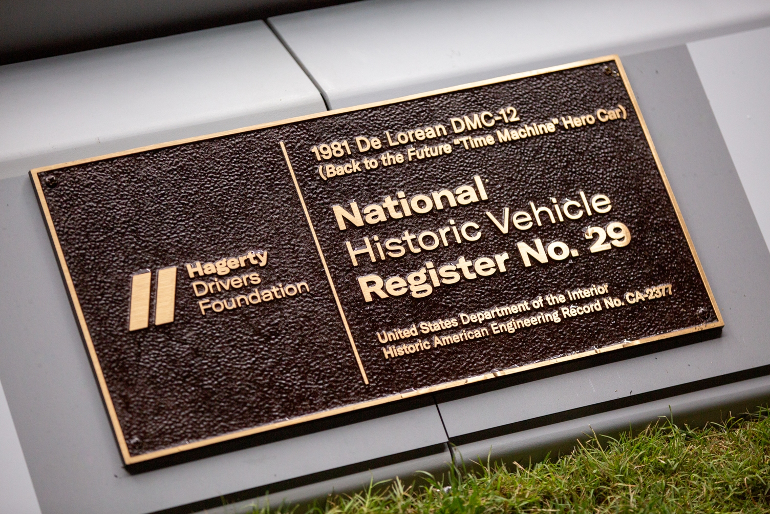Hagerty Drivers Foundation plaque