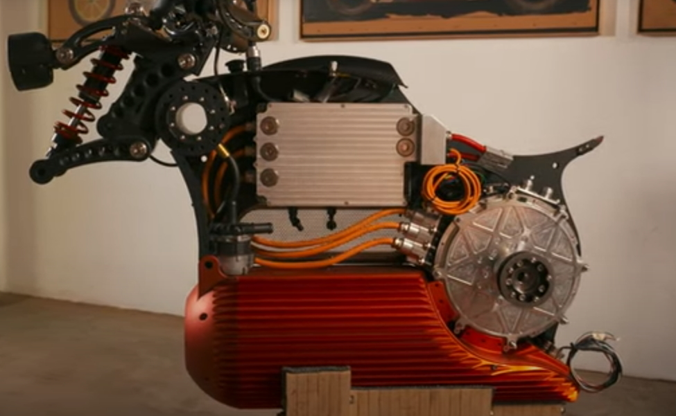 Curtiss Hades electric motorcycle drivetrain