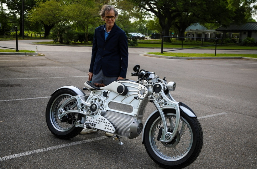 Hades electric motorcycle with Matt Chambers