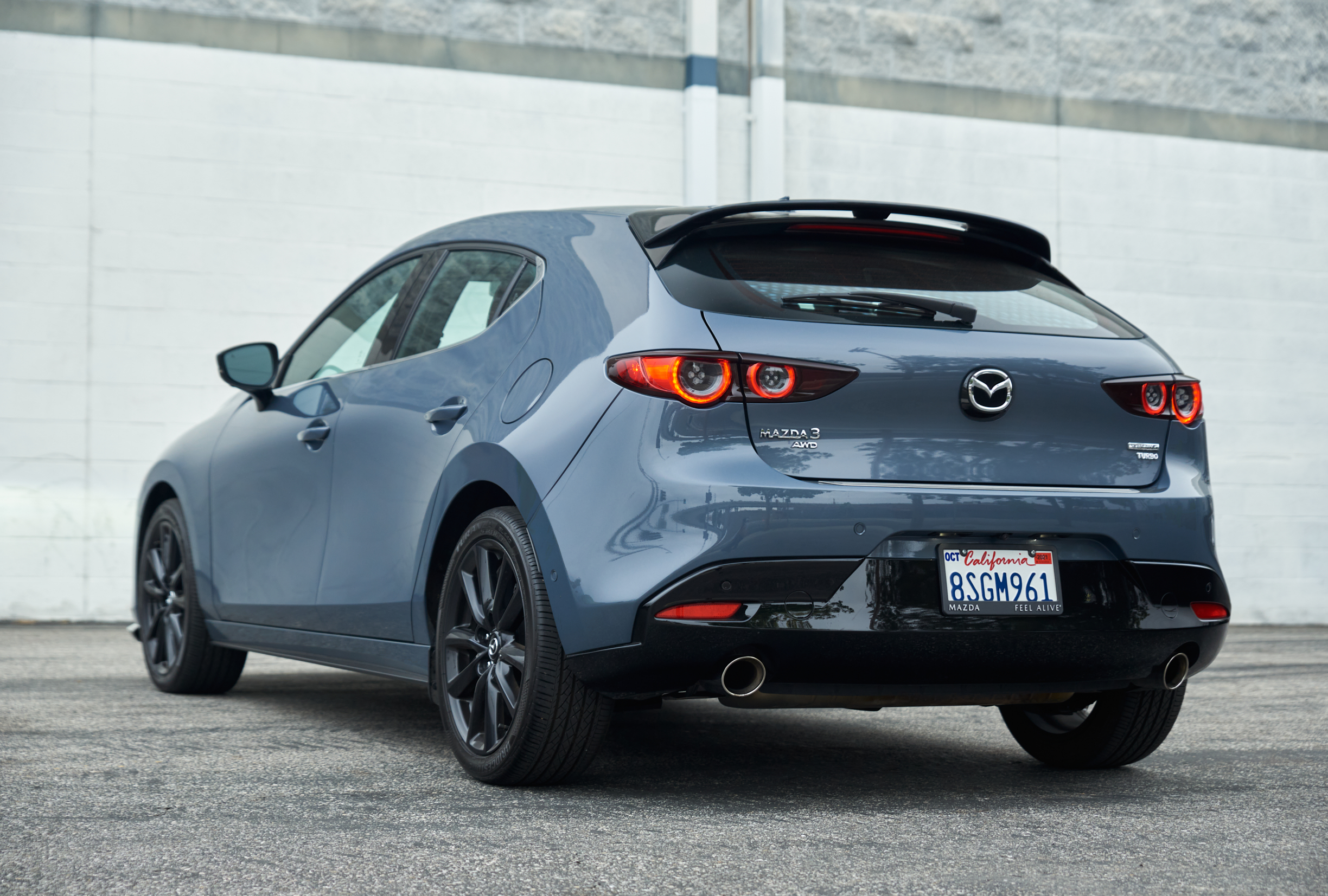 Mazda 3 2.5 Turbo Hatchback review rear view