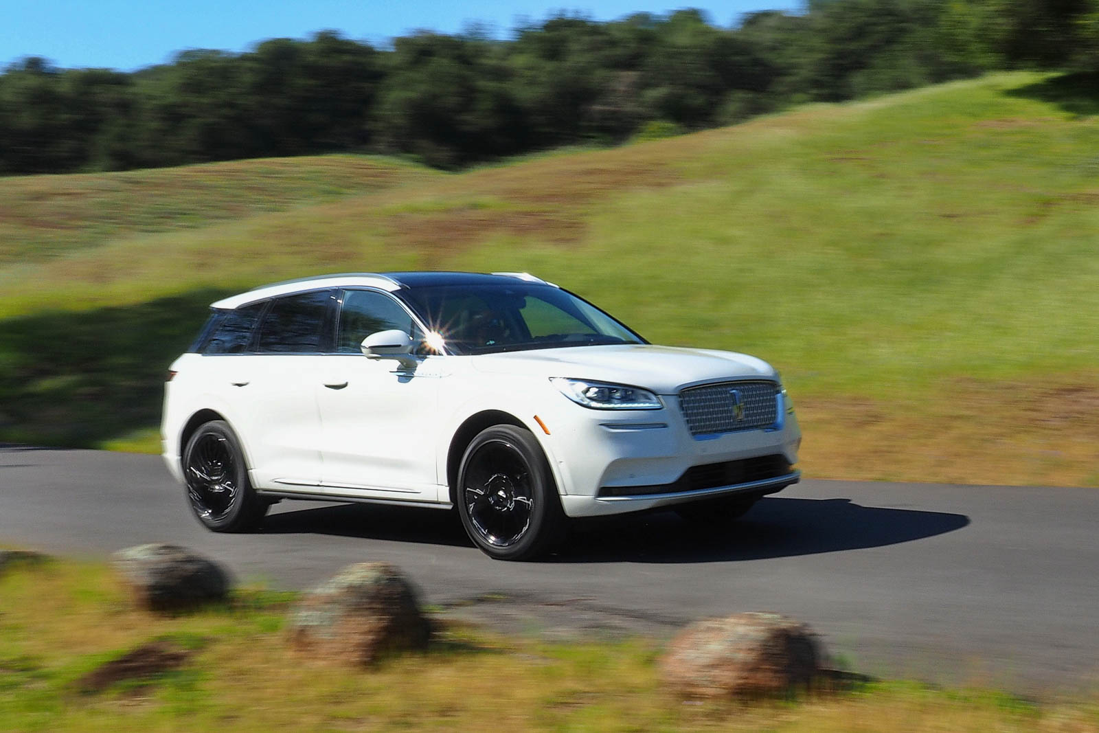 2021 Lincoln Corsair AWD Reserve on the road