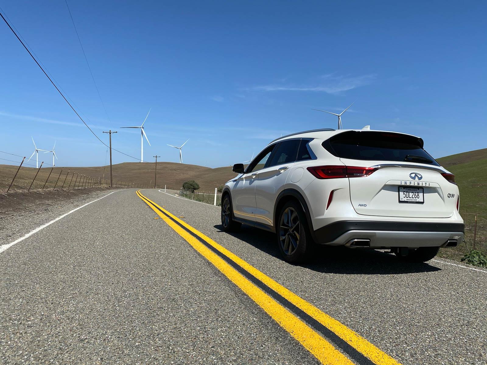 2021 Infiniti QX50 rear view