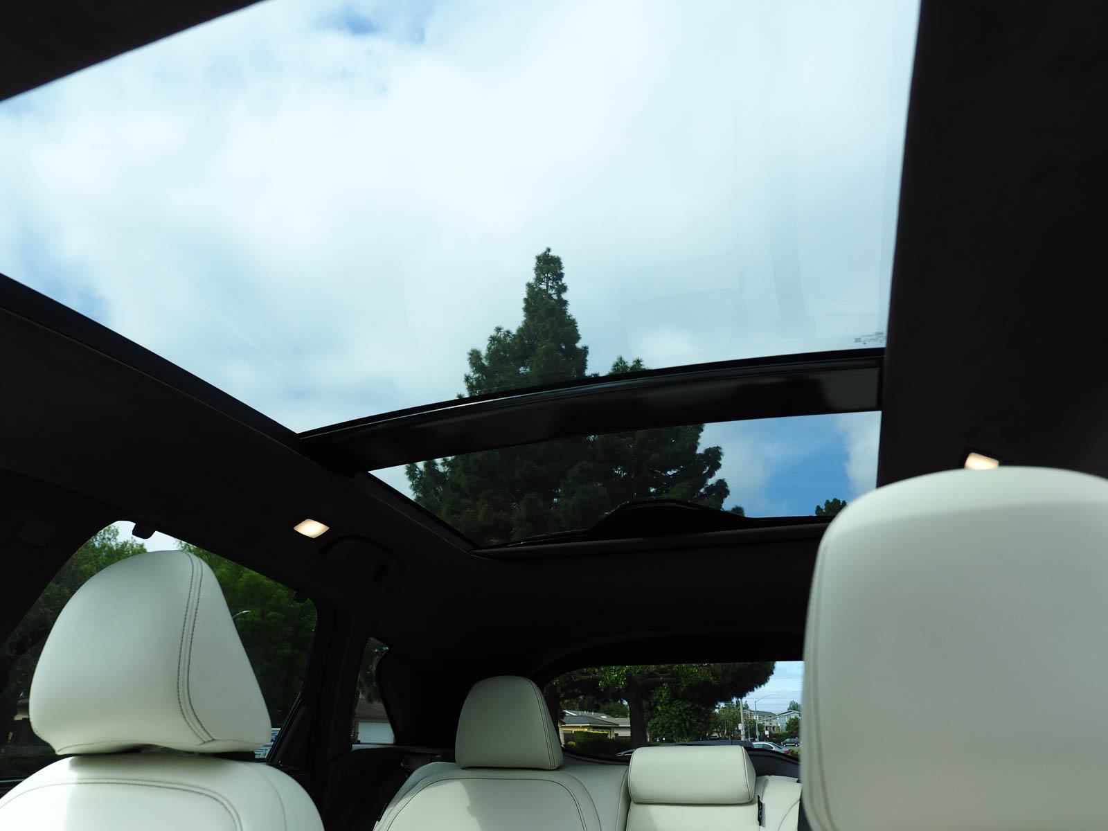 view through panoramic sunroof | 2021 Infiniti QX50
