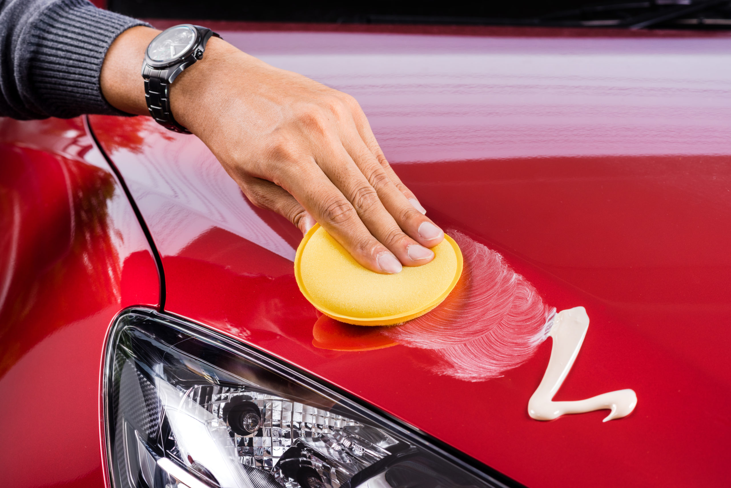 how to detail your car - waxing car