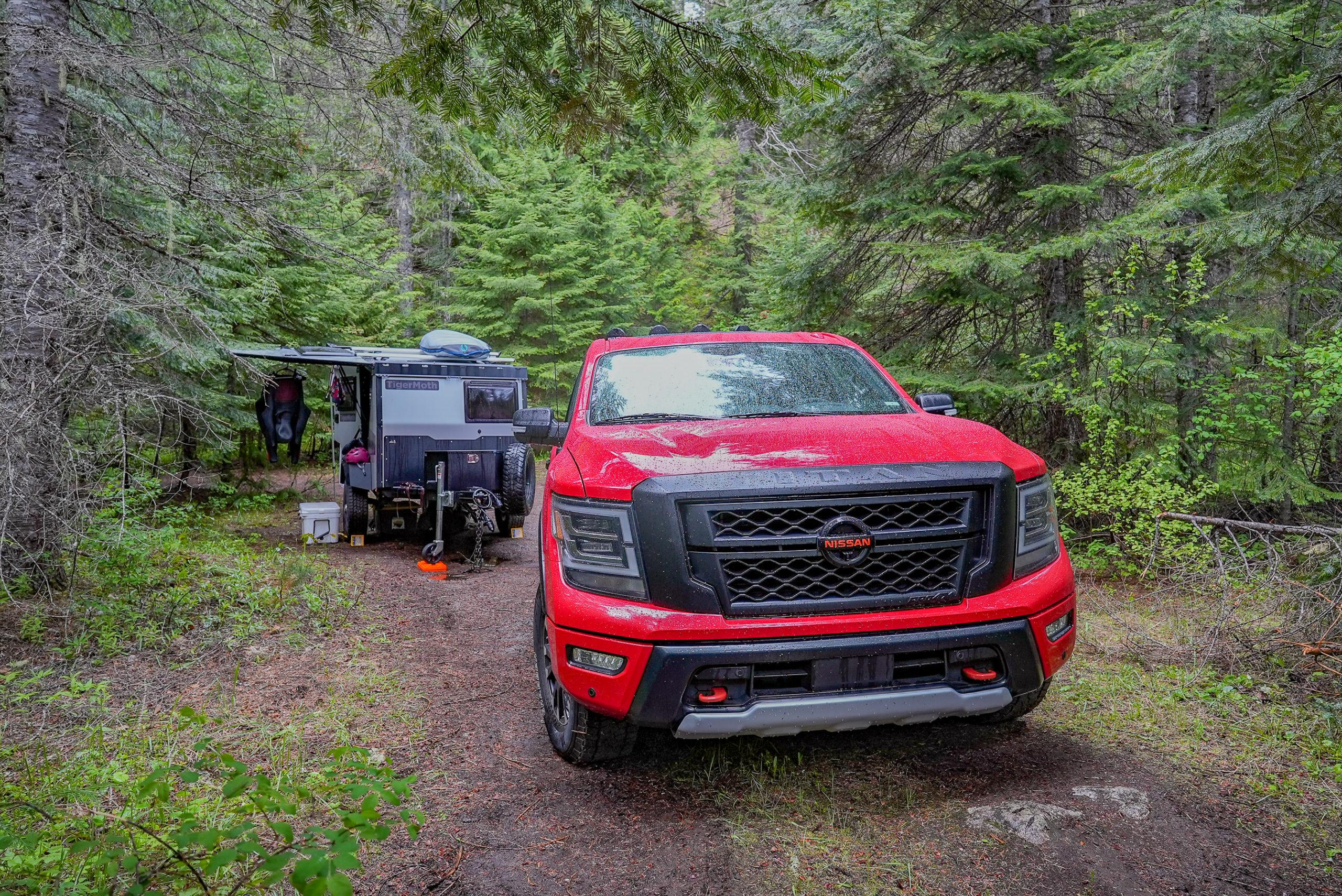 2021 Nissan Titan Pro-4X at campsite