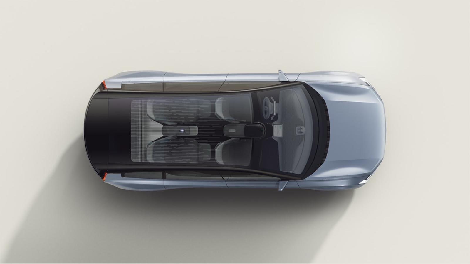 Volvo Concept Recharge Overhead