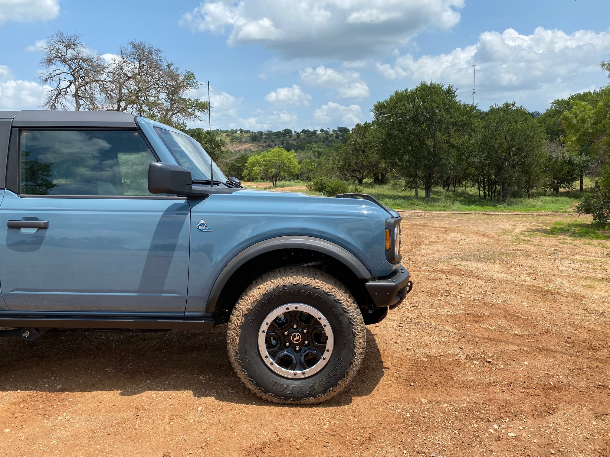 2021 Ford Bronco review - front of SUV
