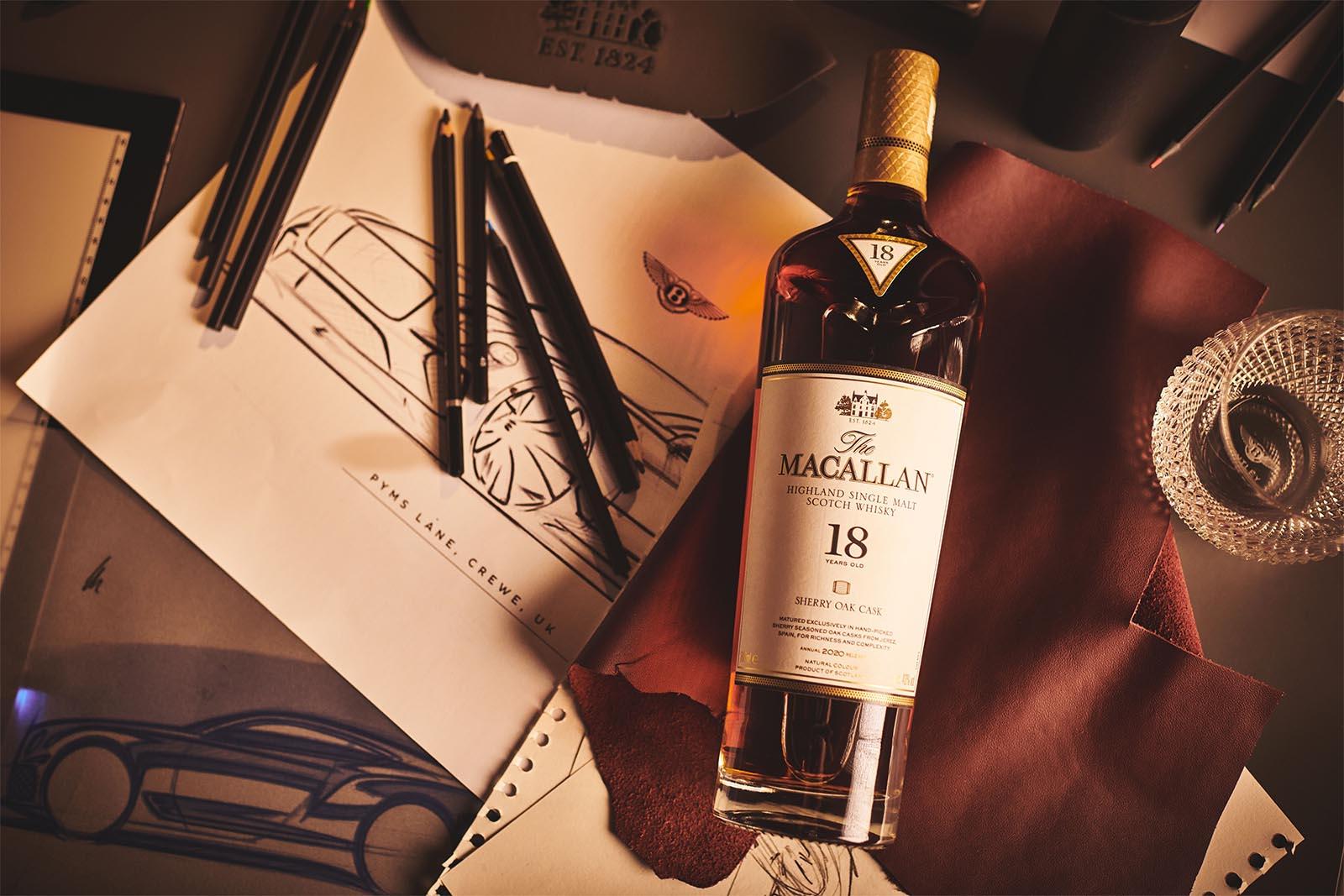 Bentley Macallan Bottle