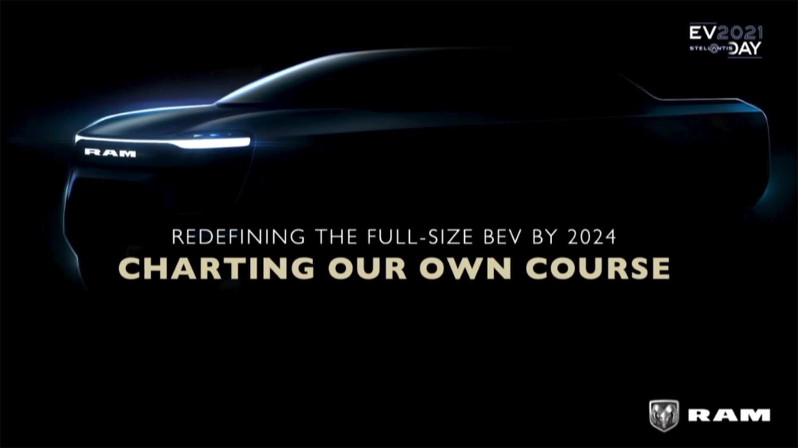 Ram 1500 EV teaser