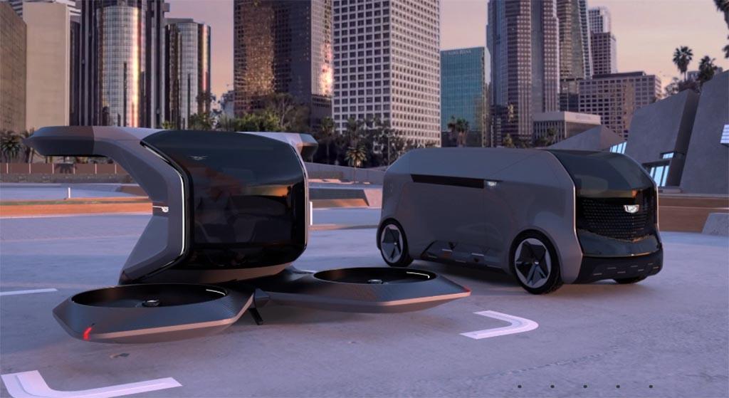 GM Design Center: Cadillac VTOL and pod prototypes