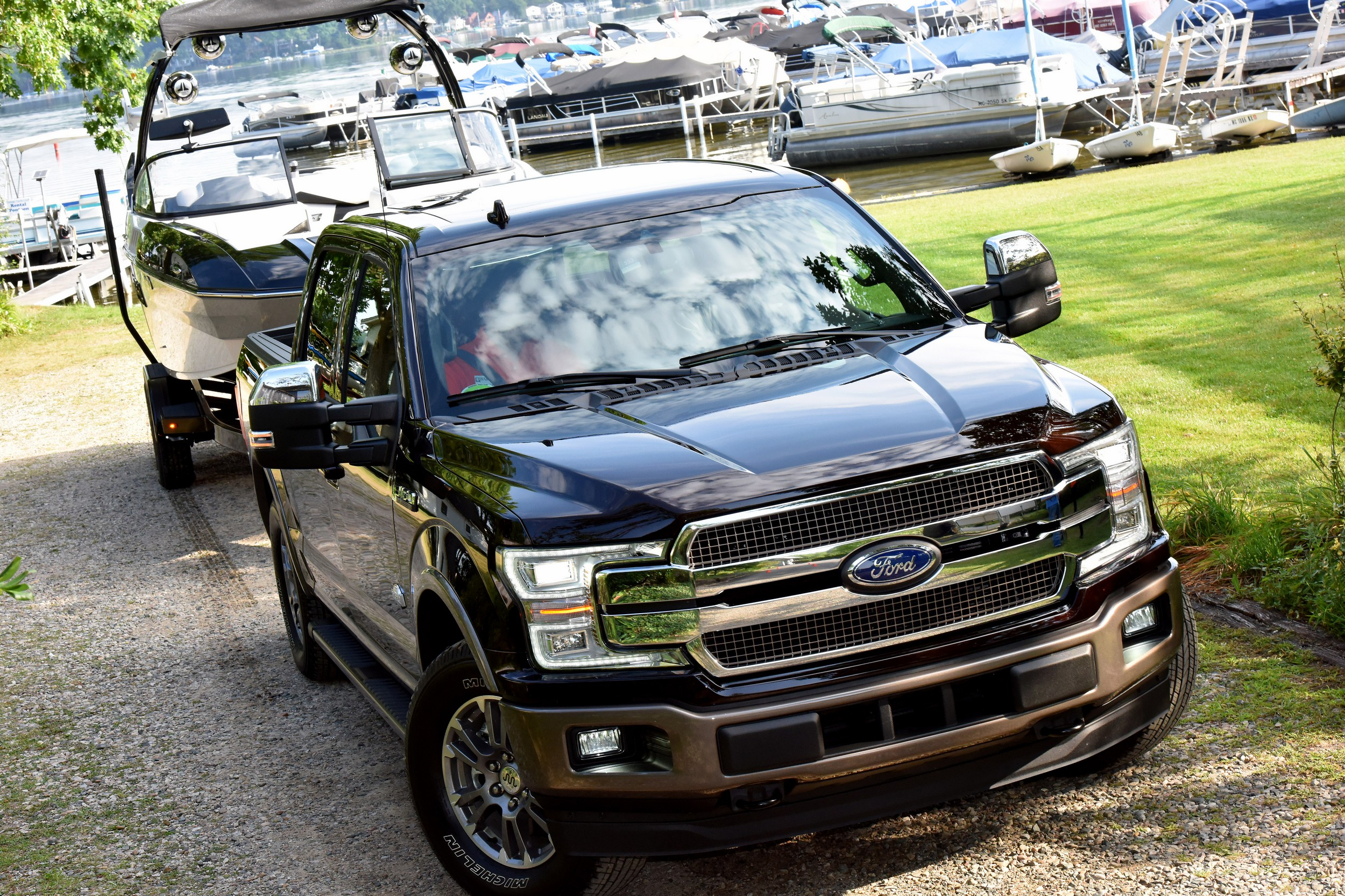 Ford F-150 towing boat