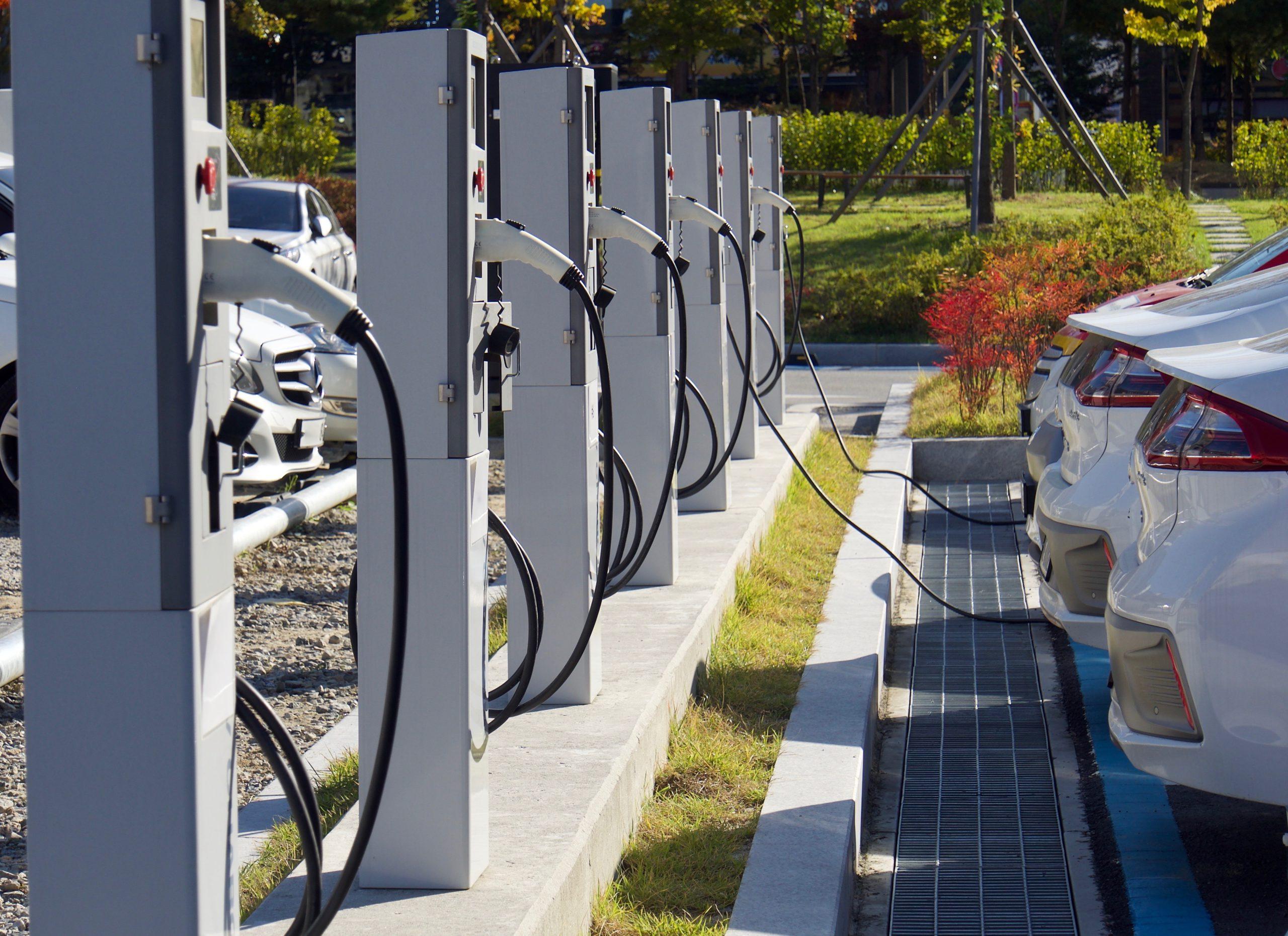 Emissions cuts: EV charging hub