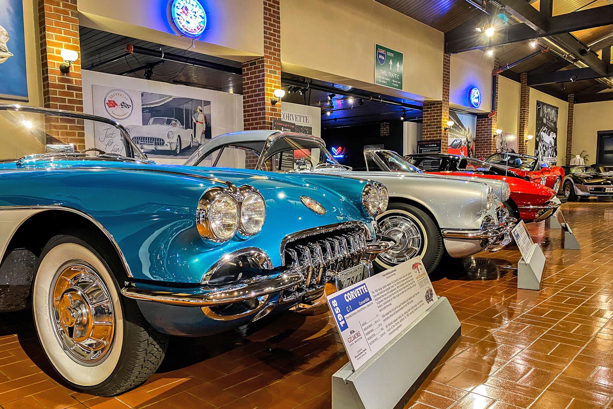 Gilmore Car Museum display