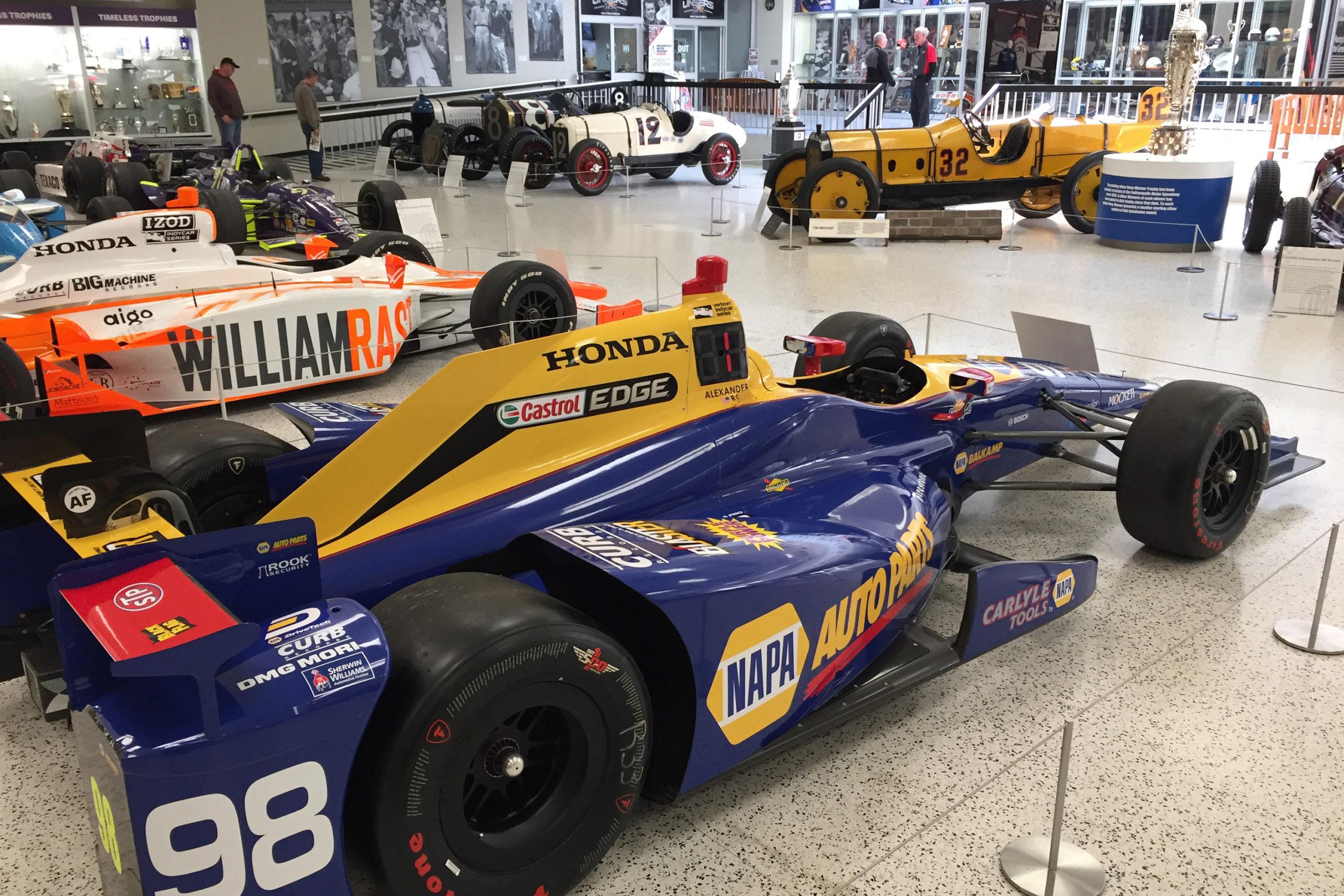 Indianapolis Motor Speedway Museum race car display