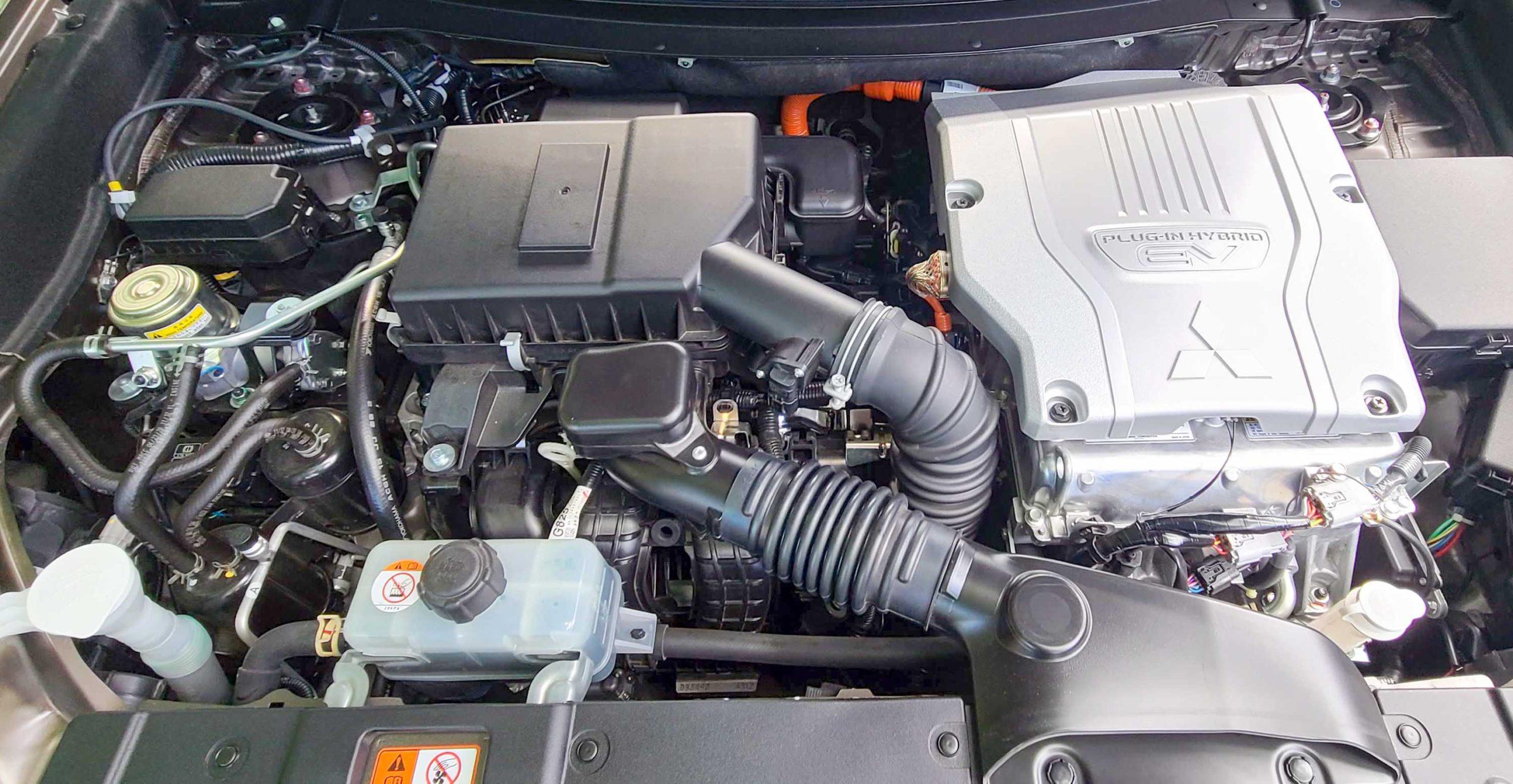 2021 Mitsubishi Outlander PHEV engine with 2.4-liter mill