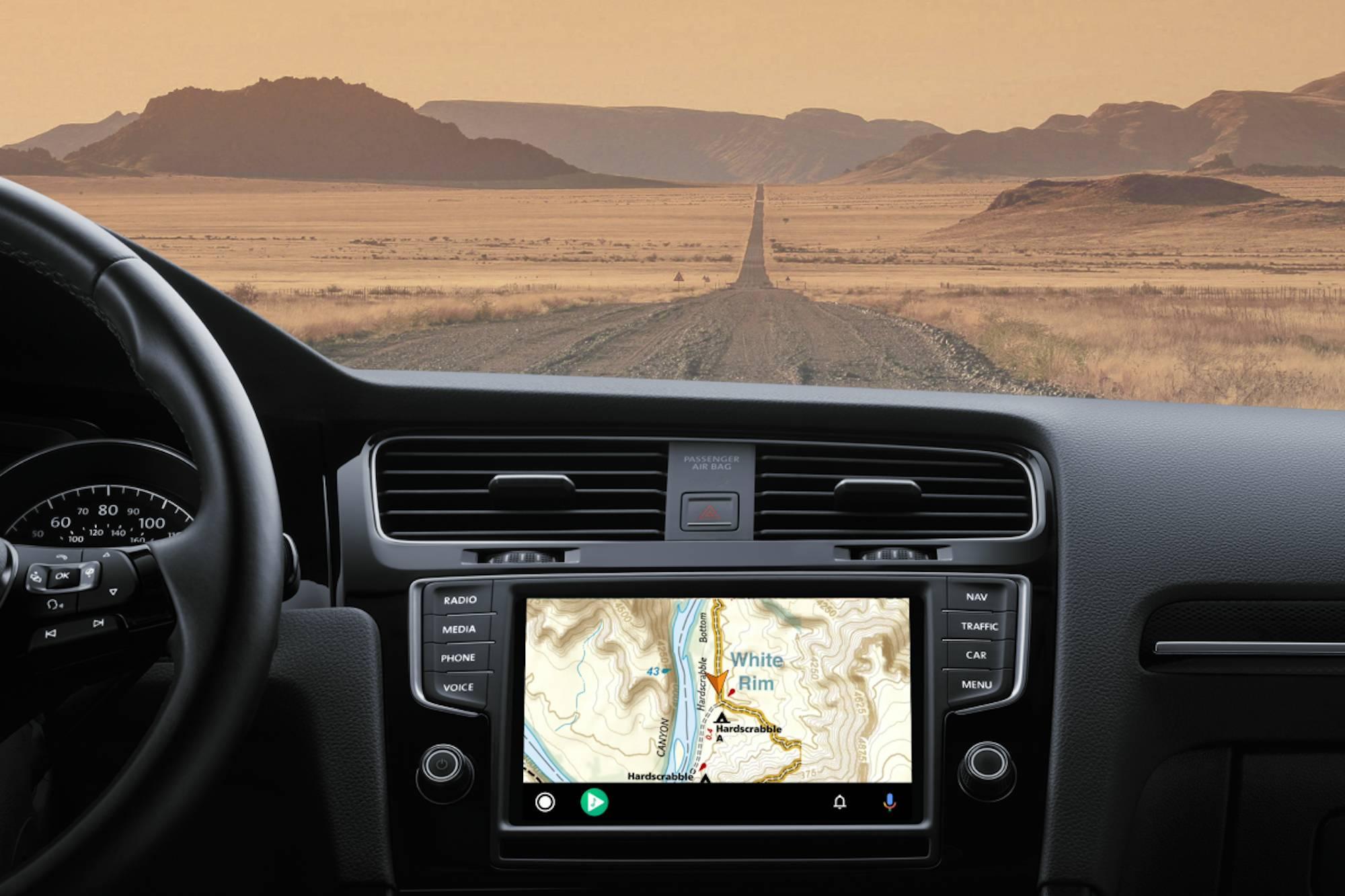 Gaia GPS dash
