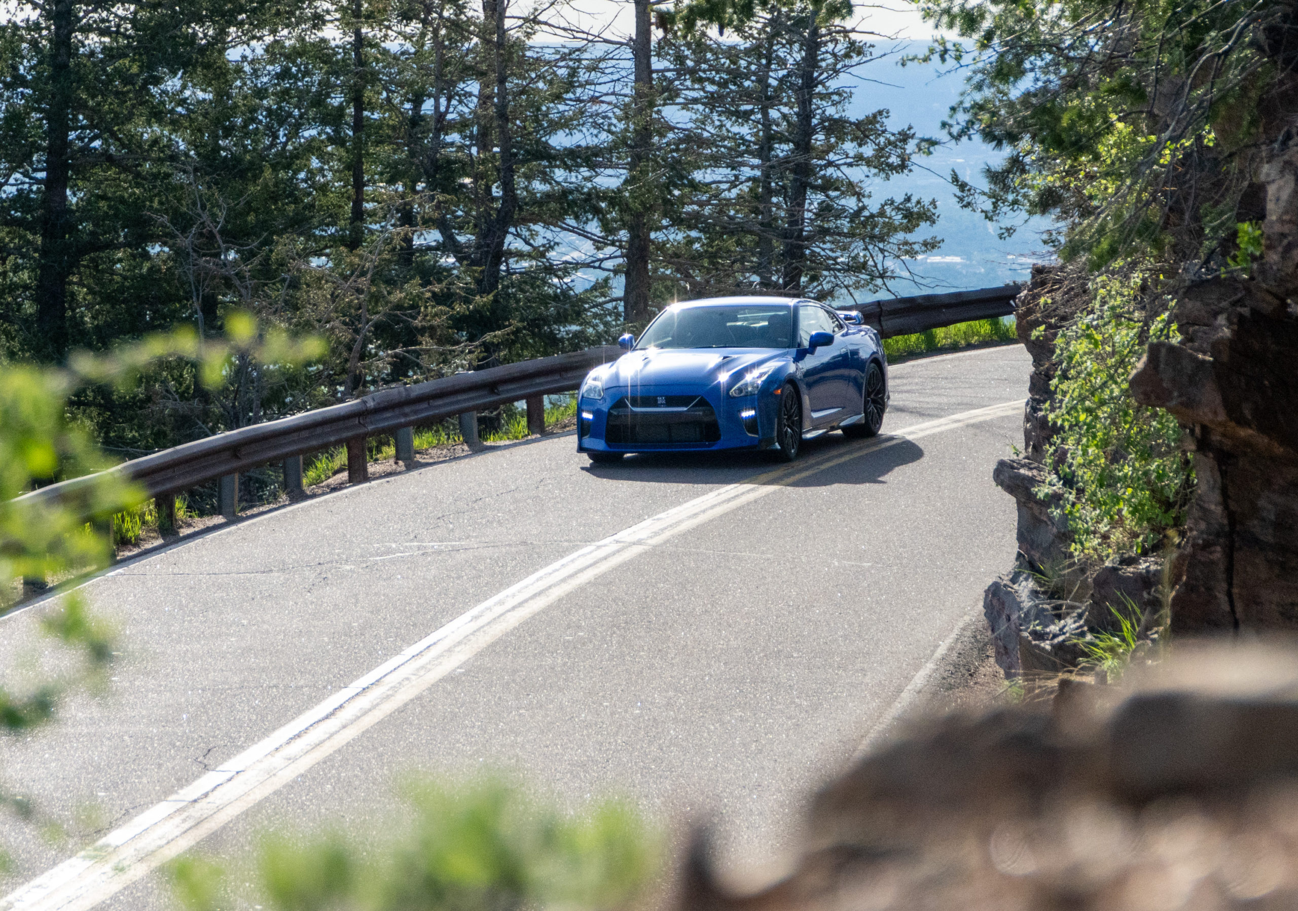 2021 Nissan GT-R on mountain road