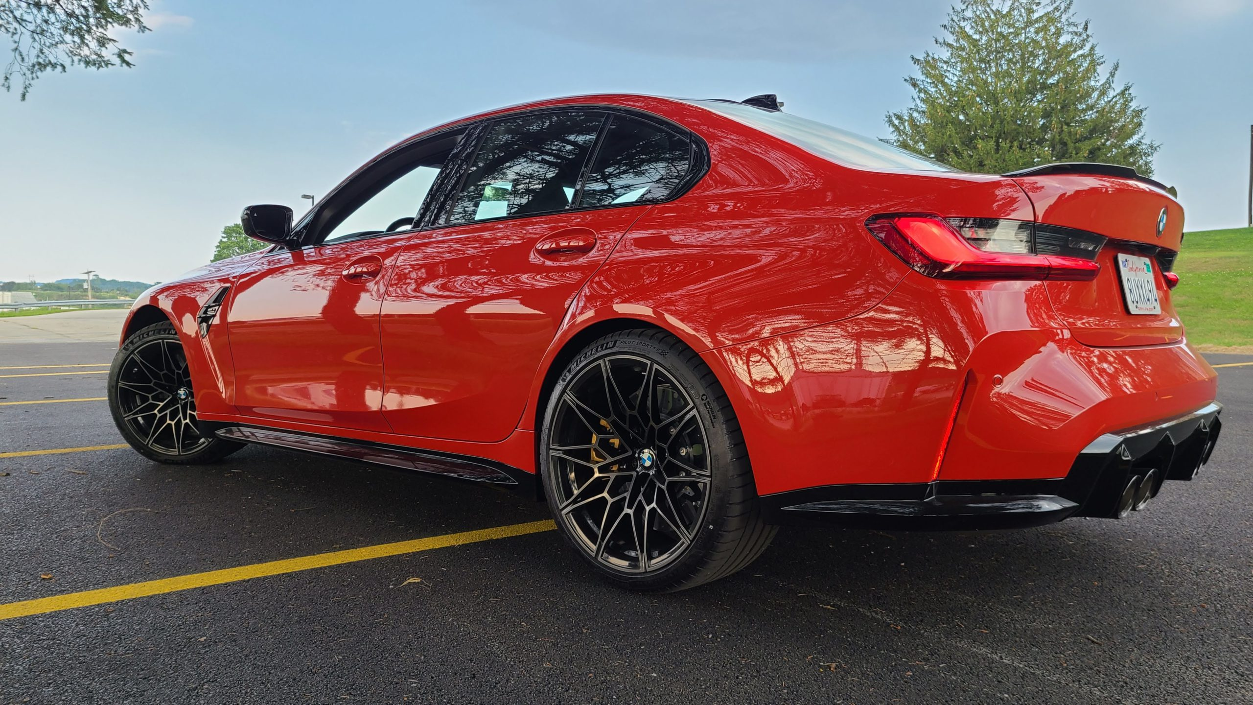 2021 BMW M3 Competition rear exterior